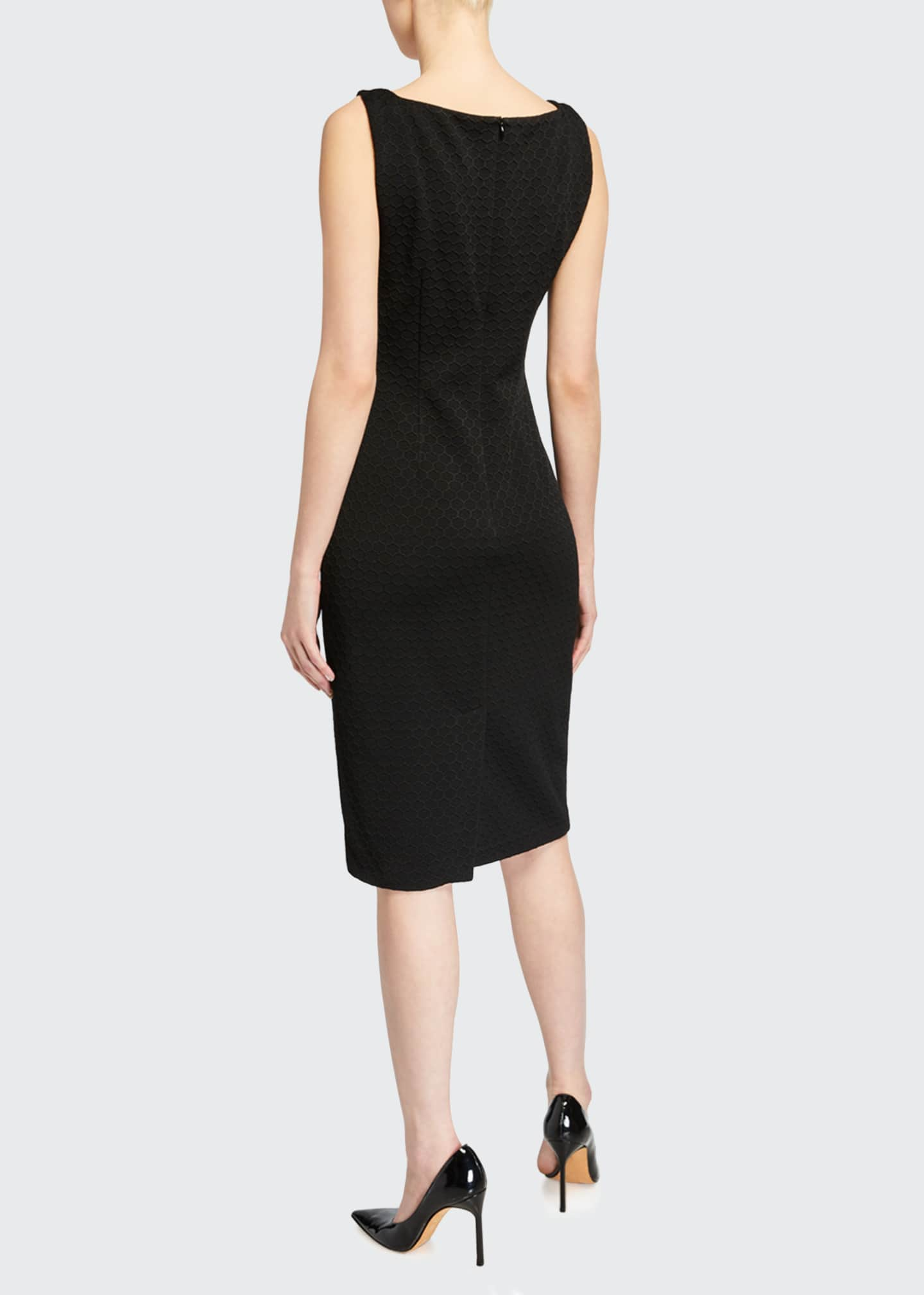 Image 2 of 2: Lowell Square-Neck Ponte Sheath Dress