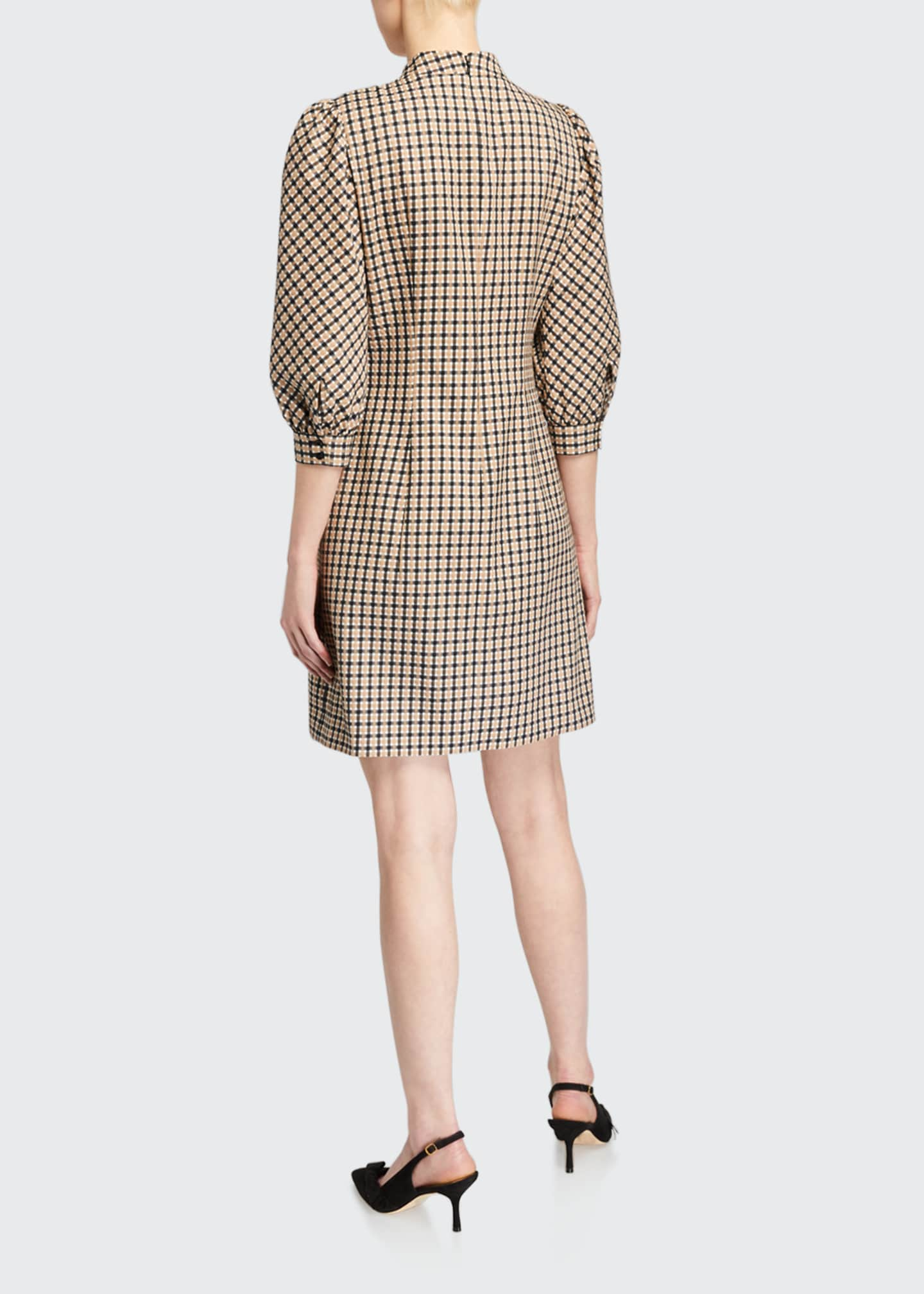 Image 2 of 2: Emilia Mock-Neck Check Dress