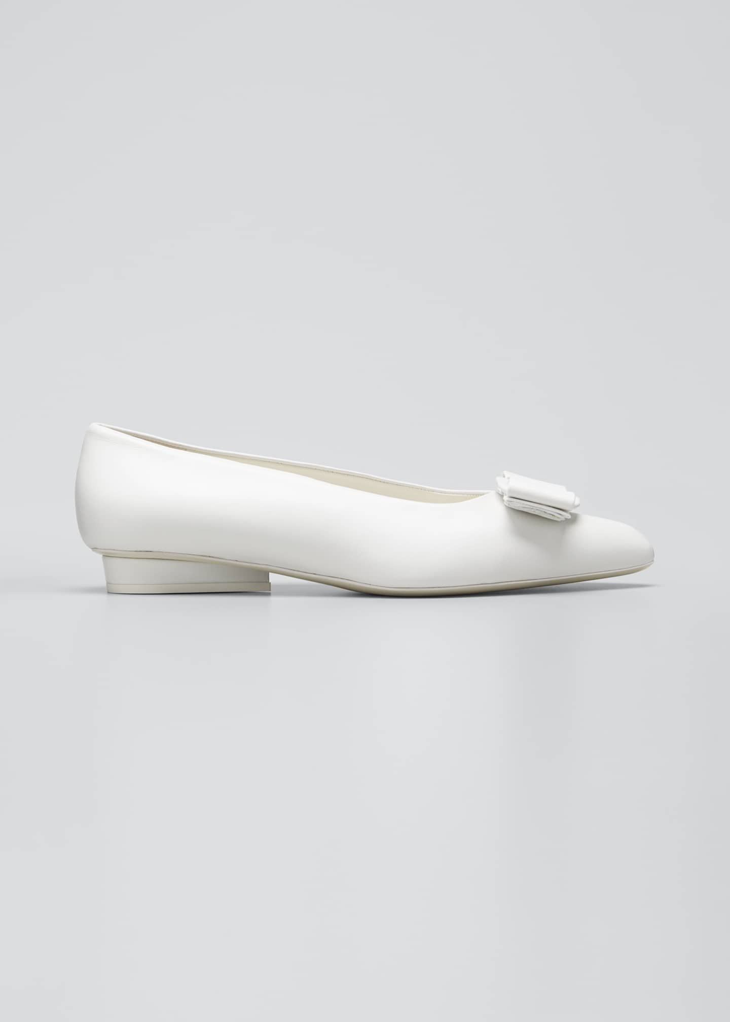 Image 1 of 3: Viva Bow Pointed-Toe Ballet Flats