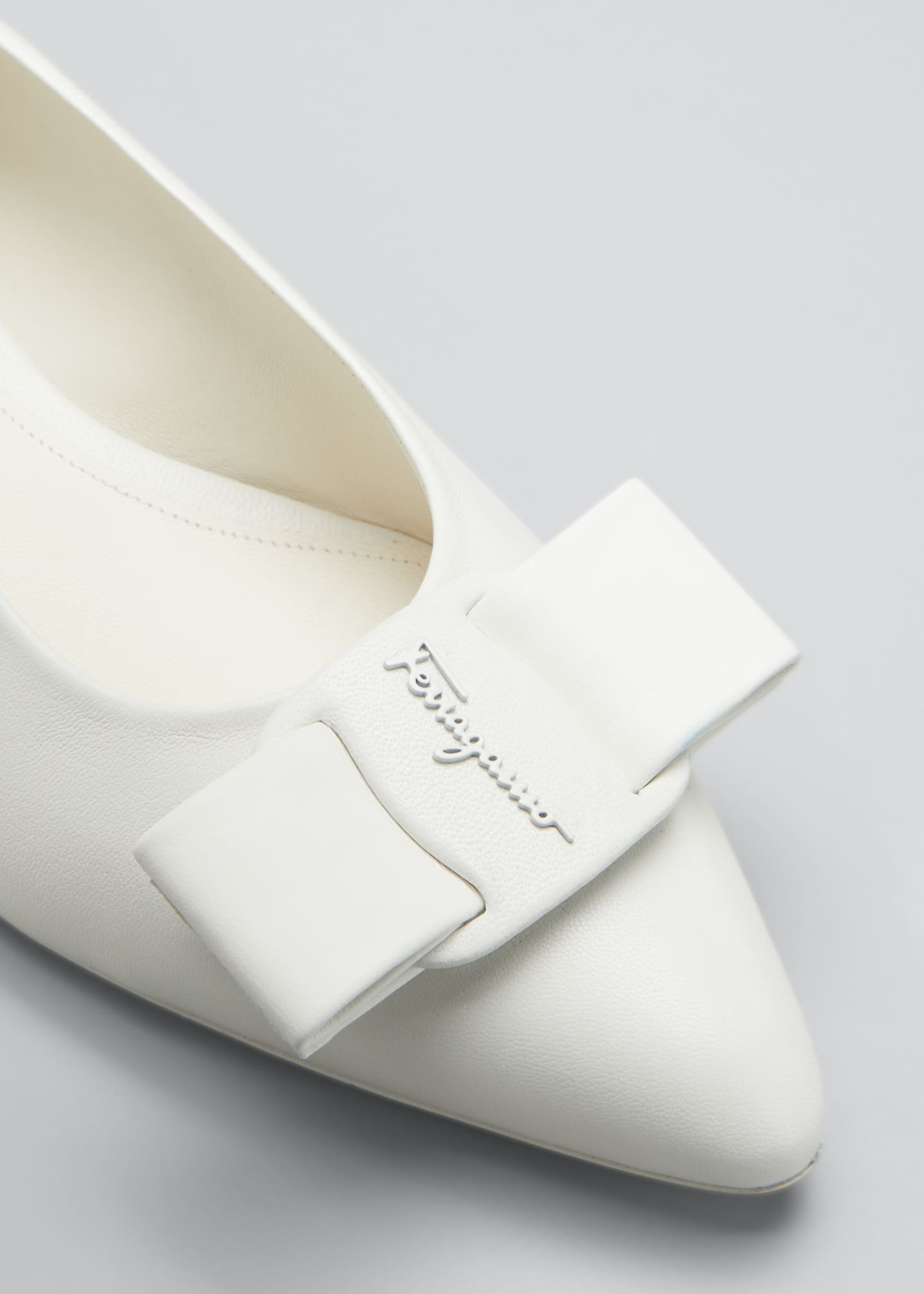 Image 3 of 3: Viva Bow Pointed-Toe Ballet Flats