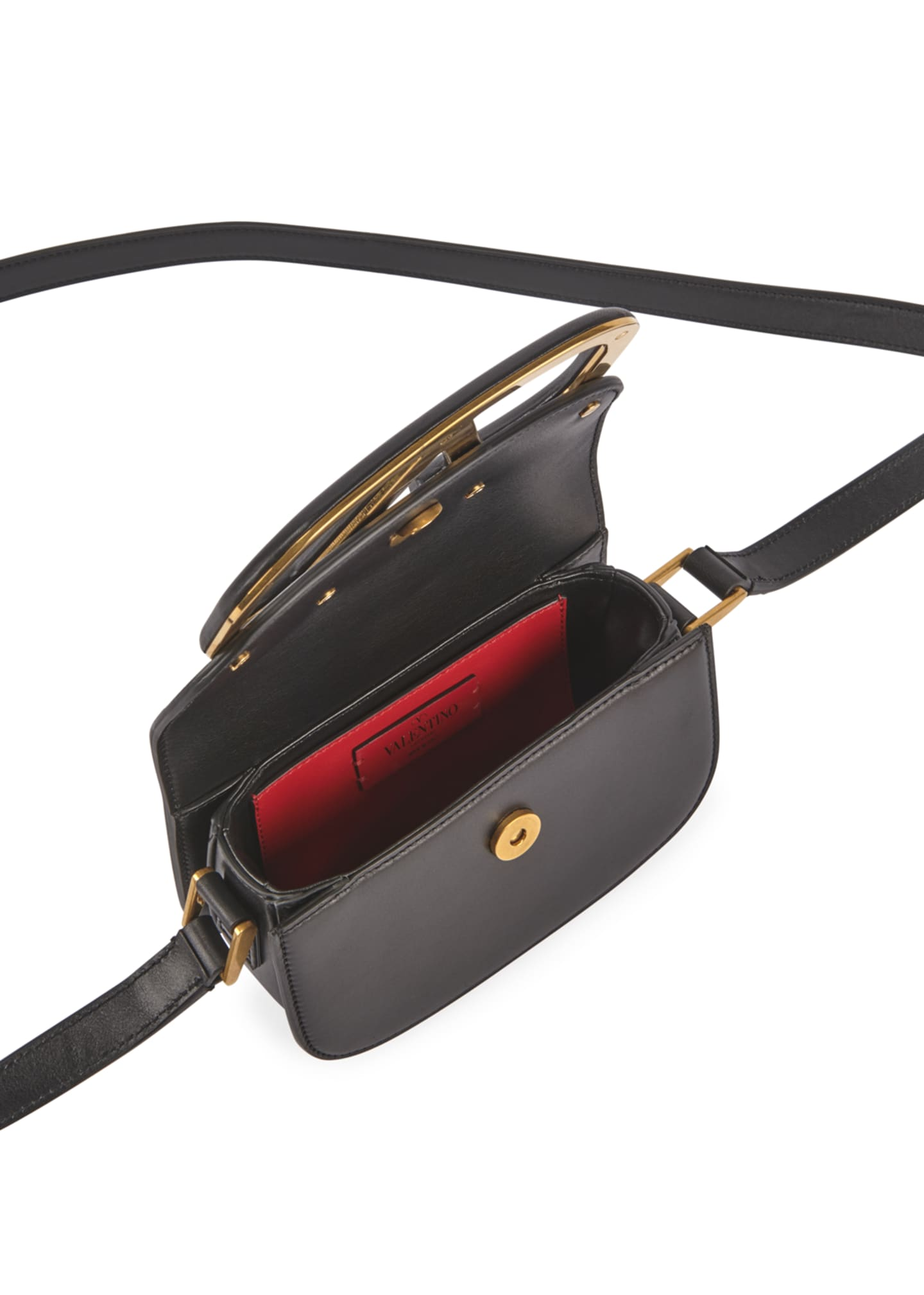 Image 2 of 3: Supervee Small Leather Shoulder Bag