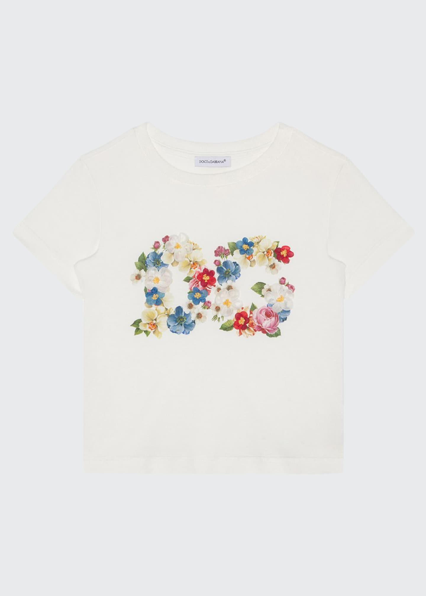 Image 1 of 2: Girl's Blooming Logo Tee, Size 8-12