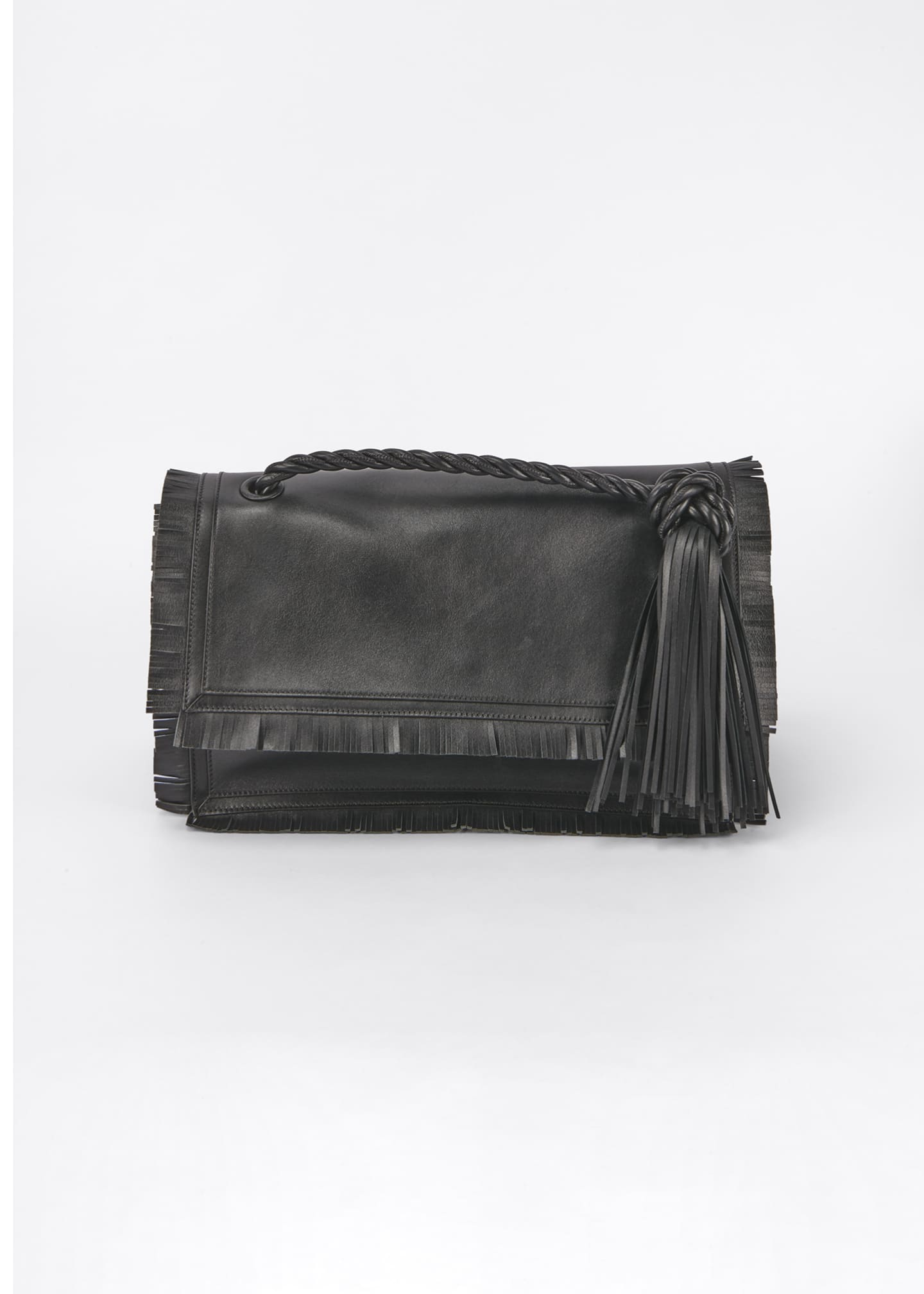 Image 1 of 5: The Rope Fringe Leather Clutch Bag