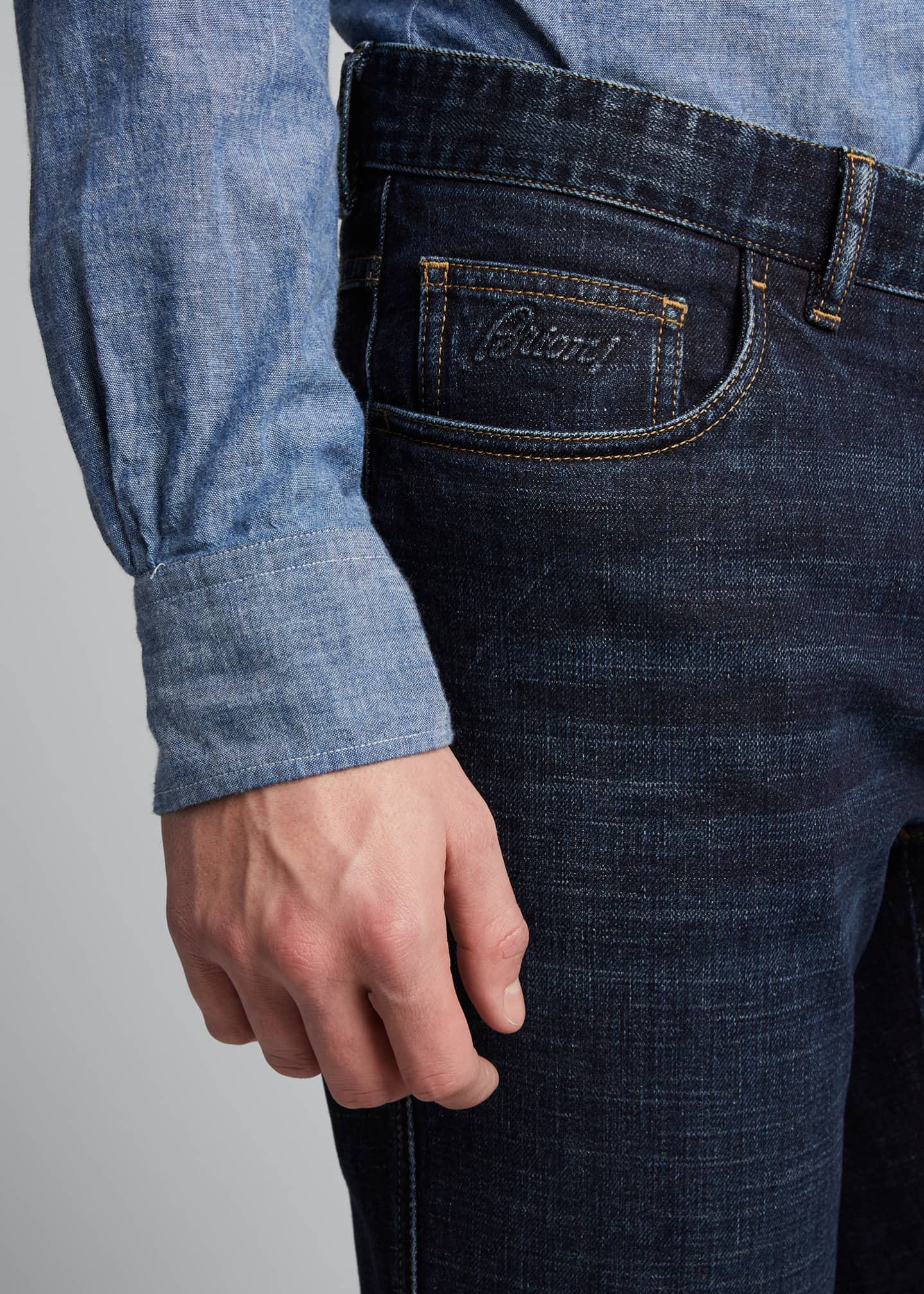 Image 4 of 5: Men's Slim Stretch-Denim Jeans