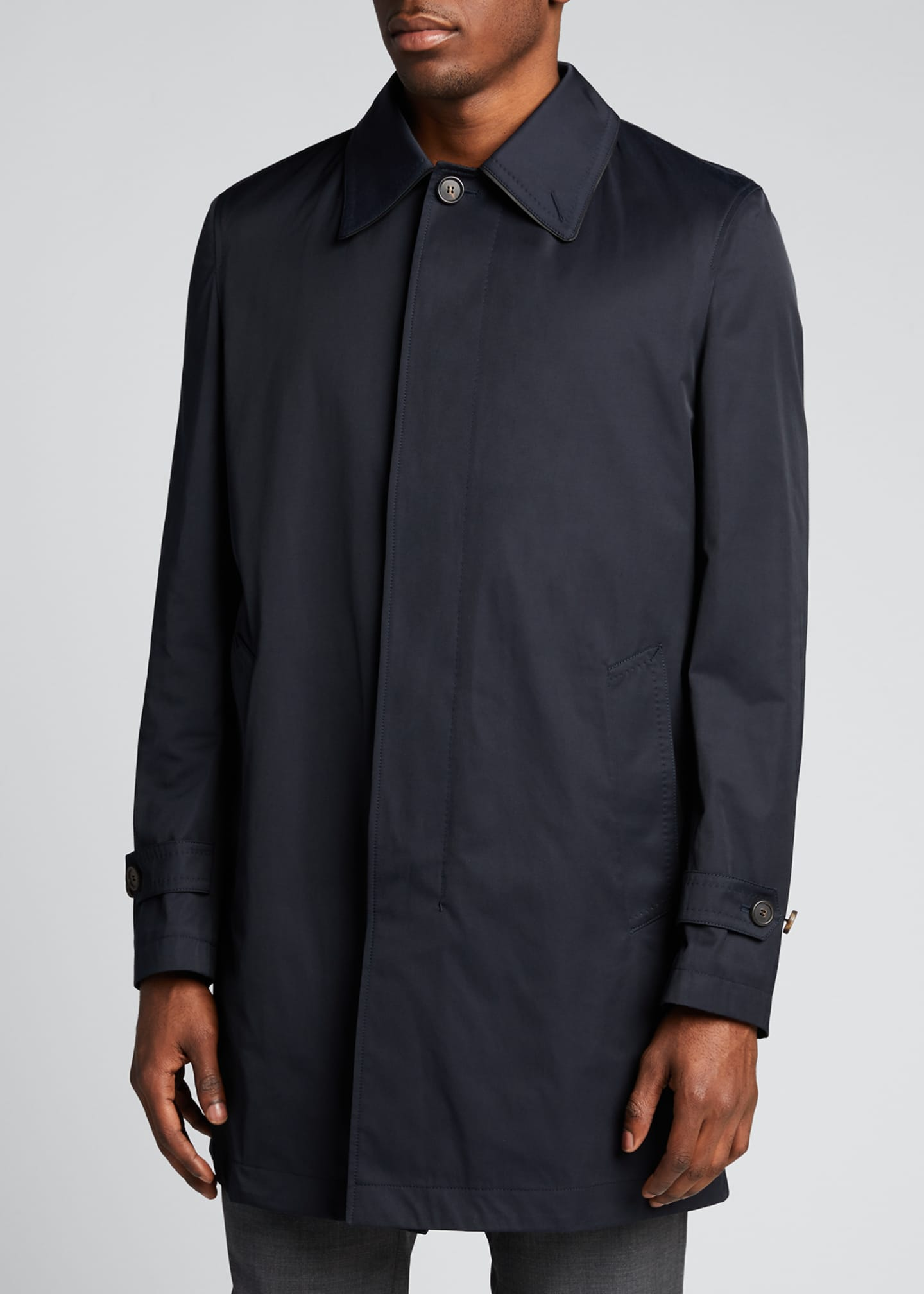 Image 3 of 5: Men's Trench Coat