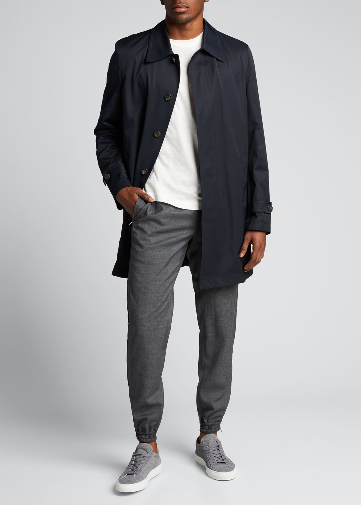 Image 1 of 5: Men's Trench Coat