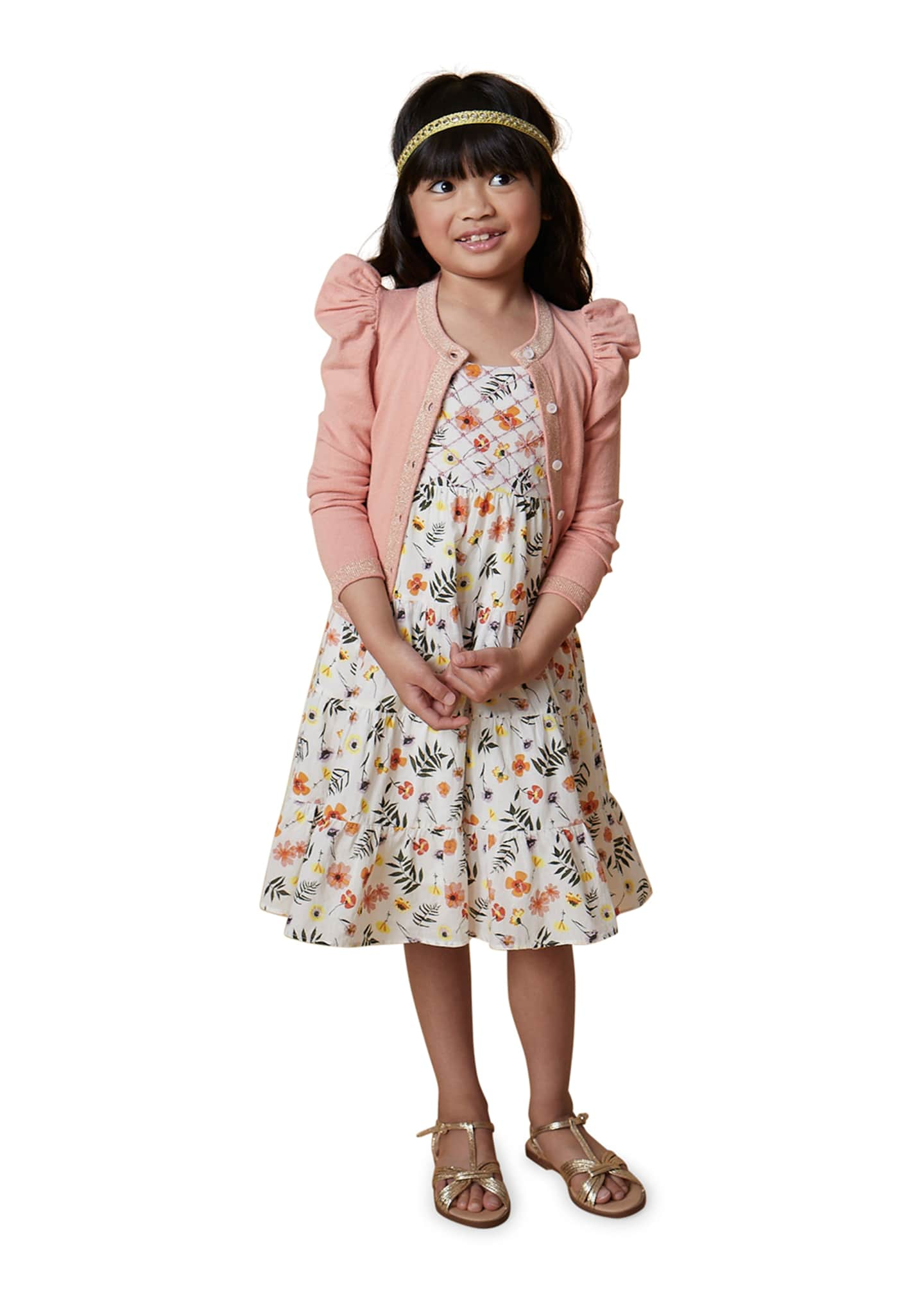 Image 2 of 3: Lara Floral Sun Dress, Size 4-6