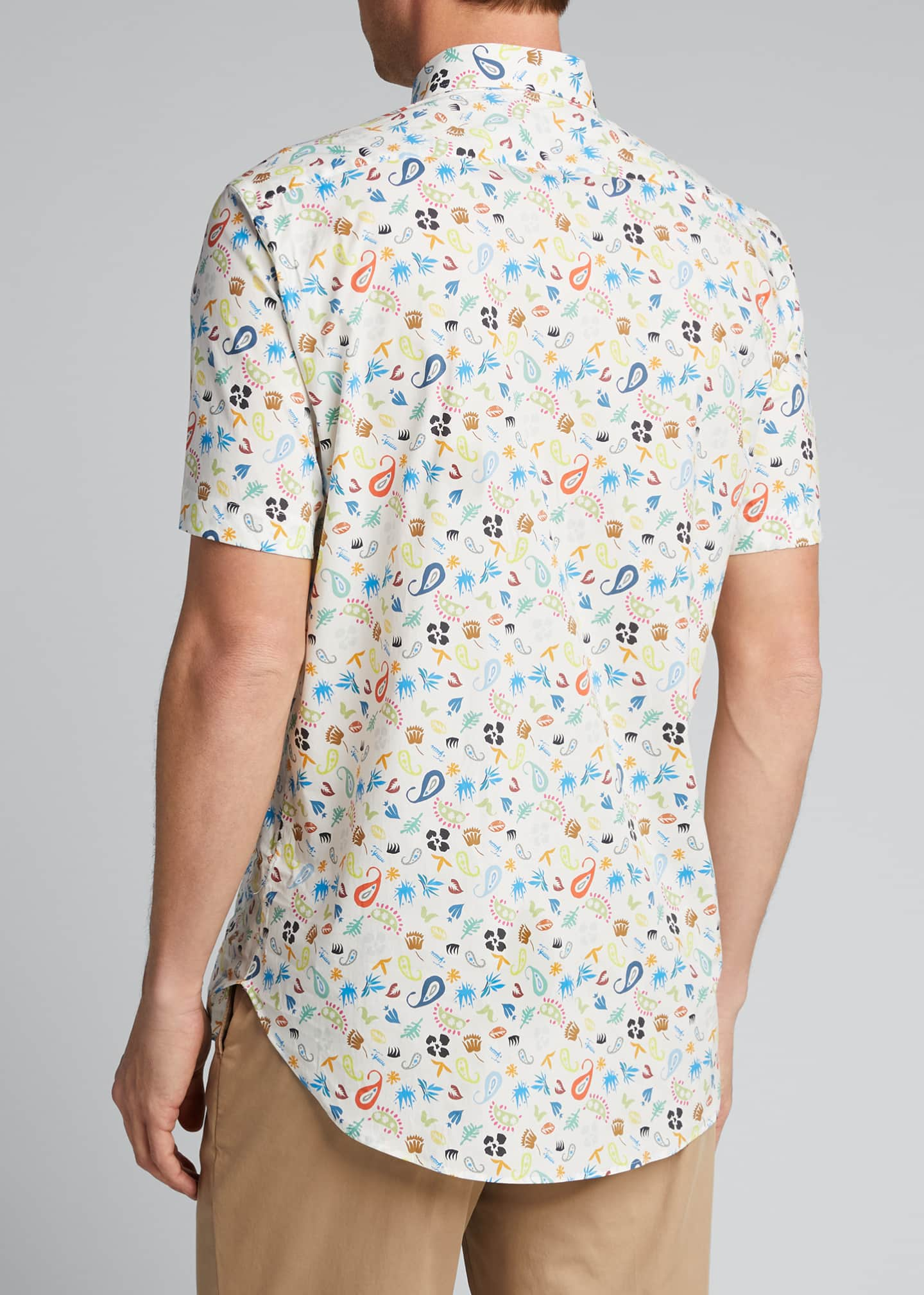 Image 2 of 4: Men's Cartoon Paisley-Print Sport Shirt