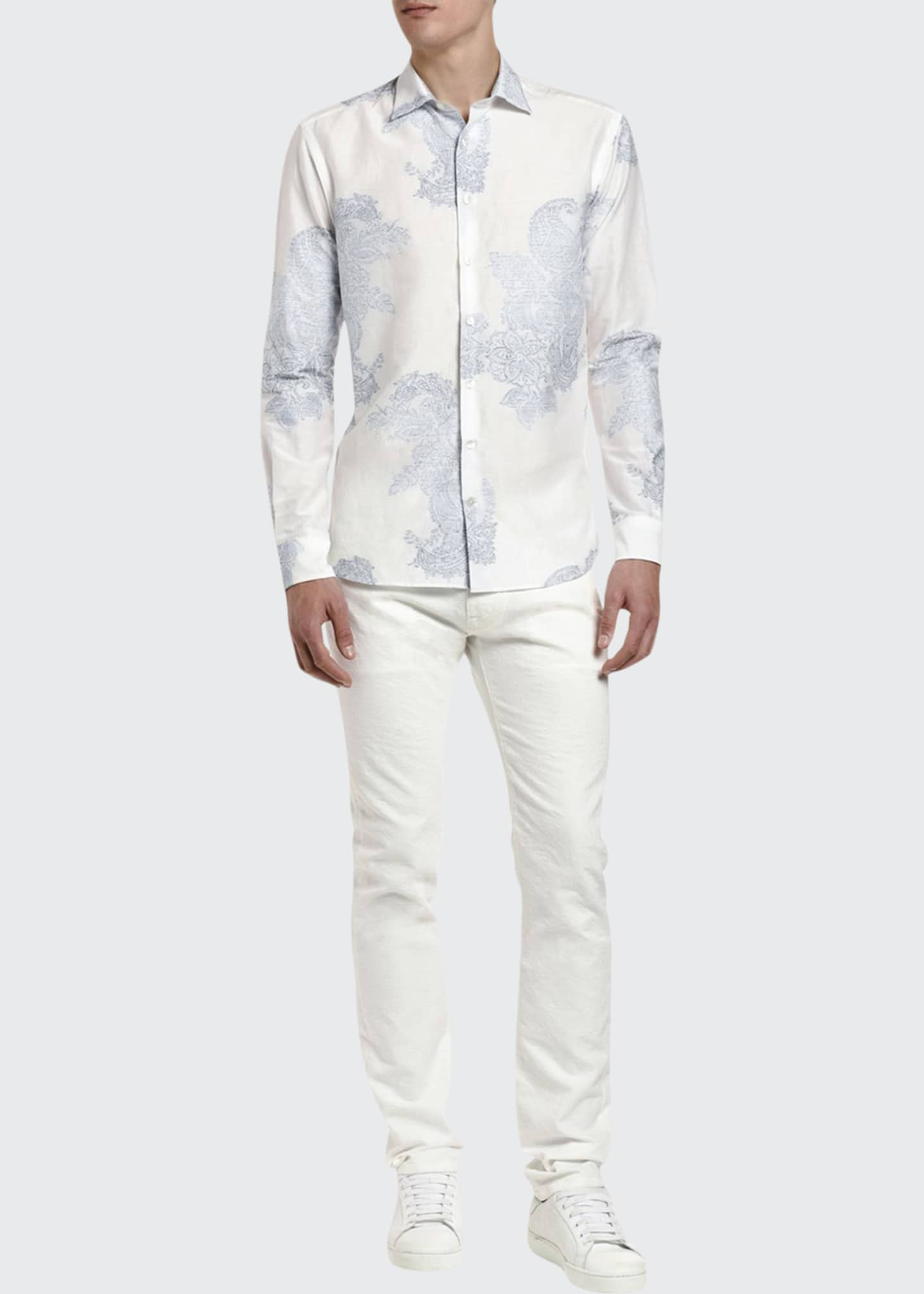 Etro Men's Faded Paisley Sport Shirt