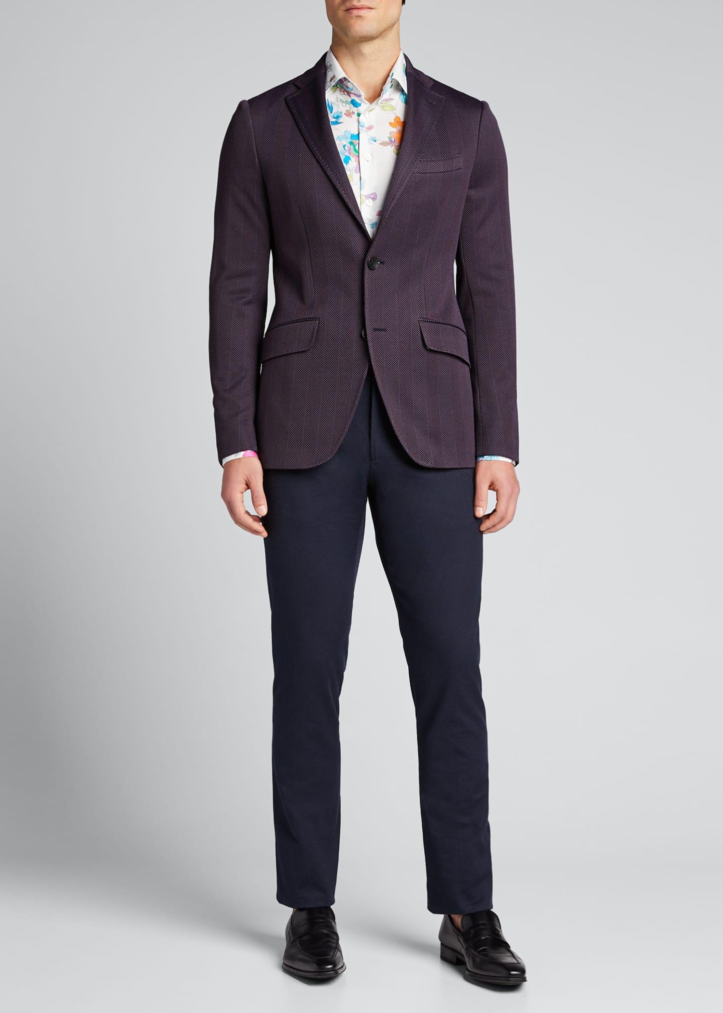 Etro Men's Chevron Two-Button Knit Blazer