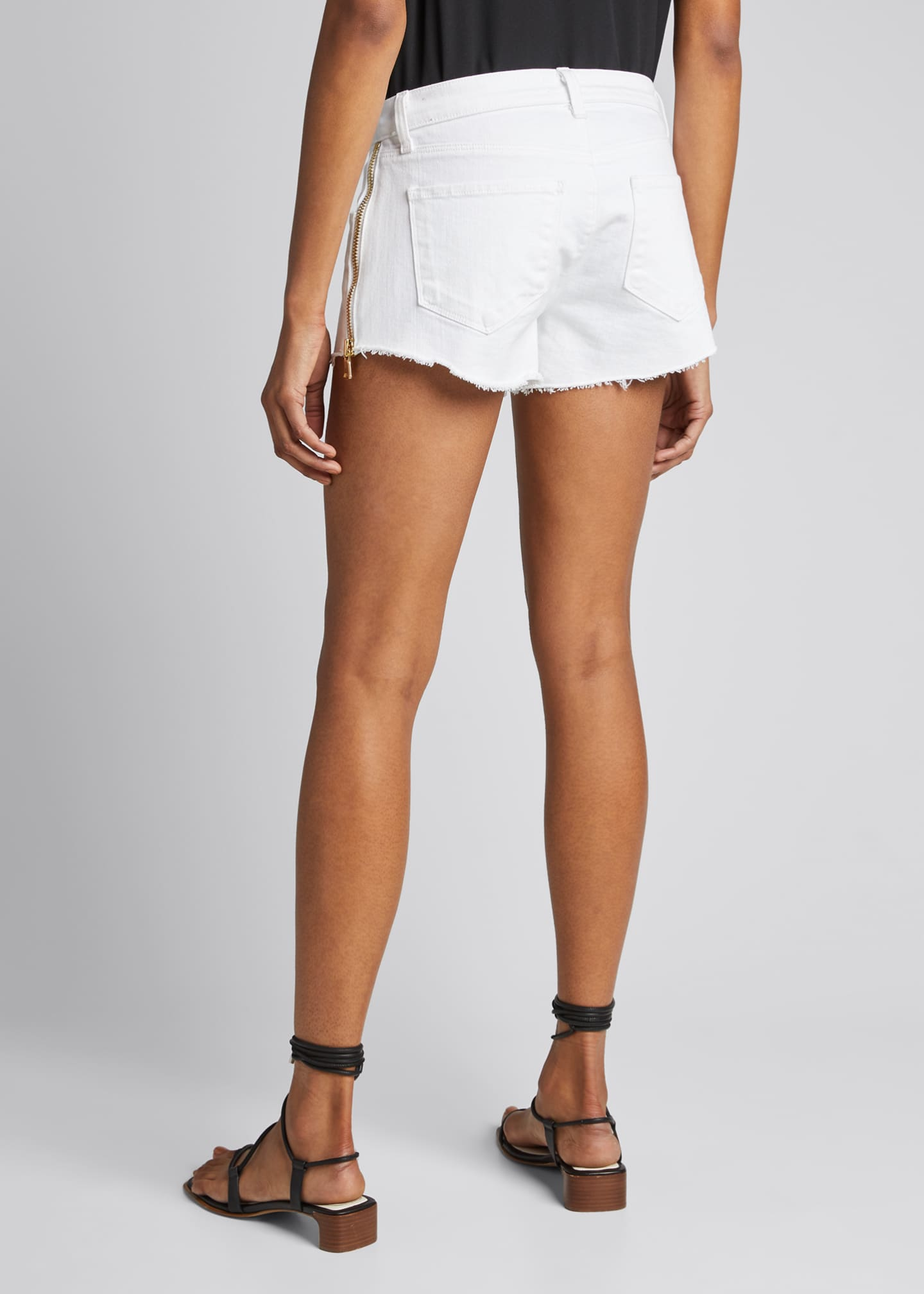 Image 2 of 5: Audrey High-Rise Zip Shorts