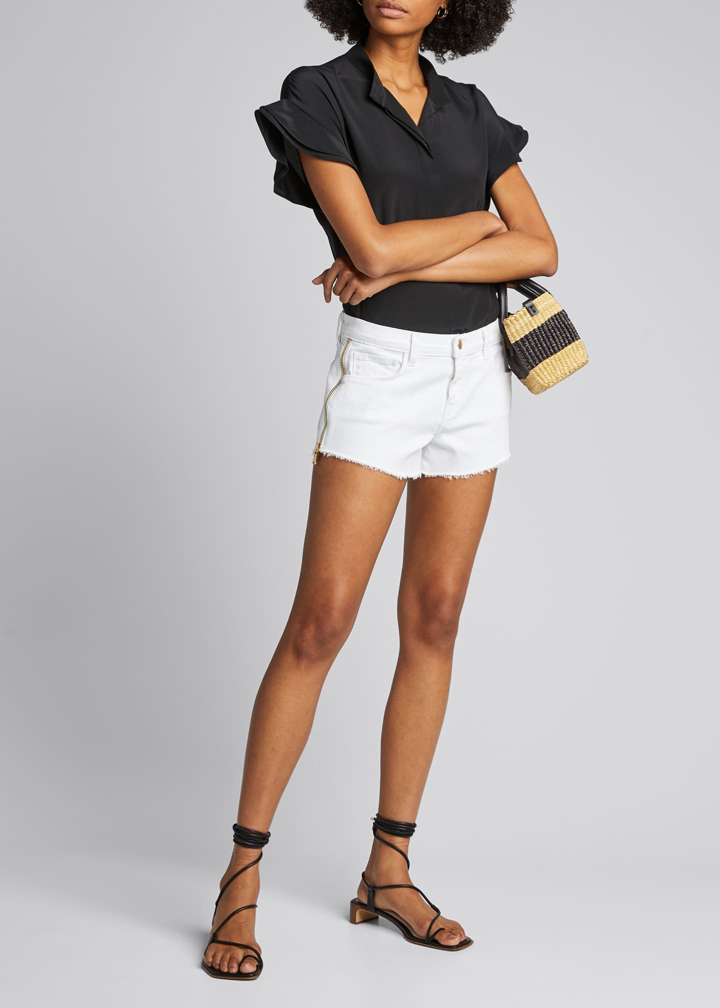 Image 1 of 5: Audrey High-Rise Zip Shorts