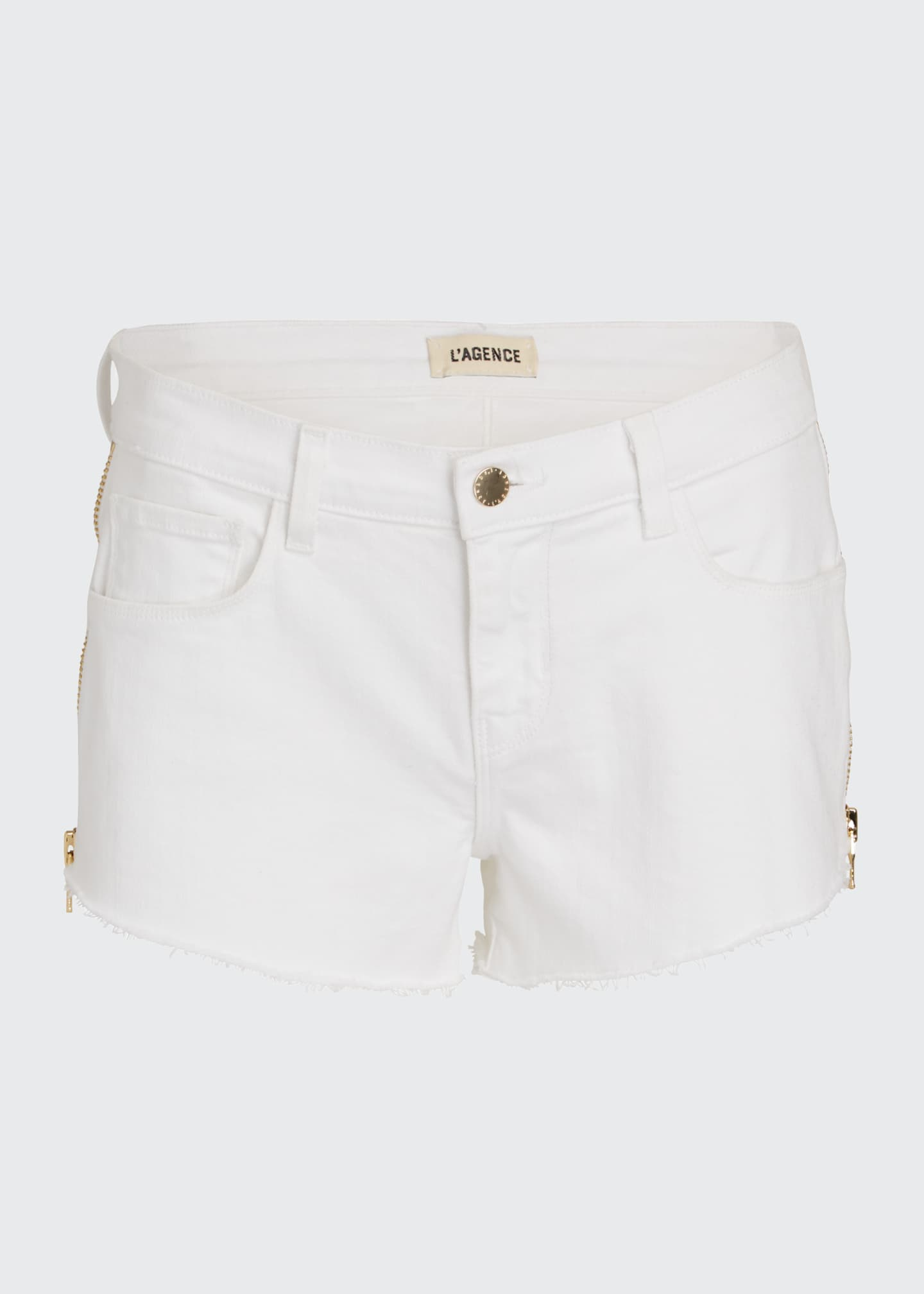 Image 5 of 5: Audrey High-Rise Zip Shorts