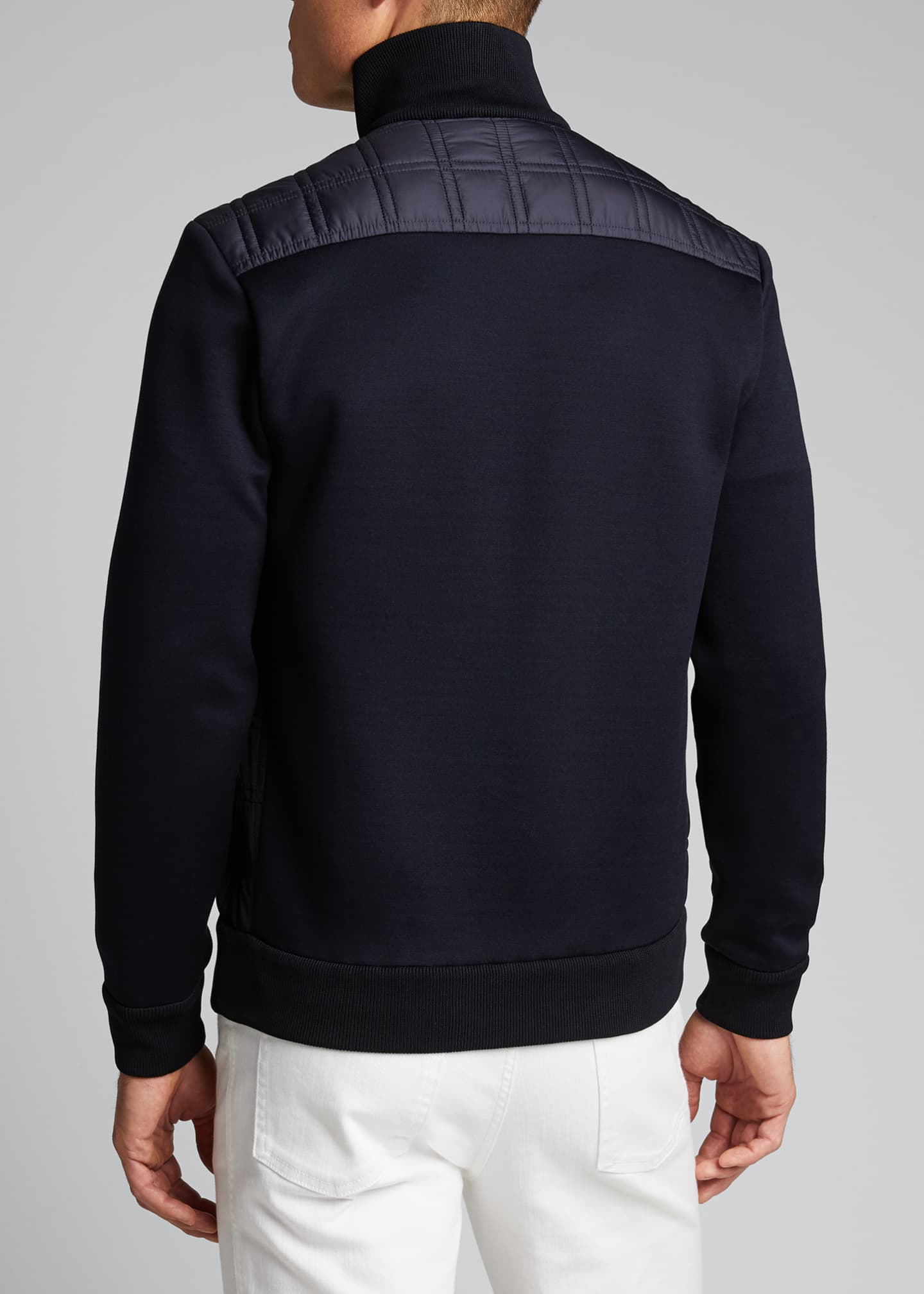 Image 2 of 5: Men's Quilt Knit Blouson Jacket