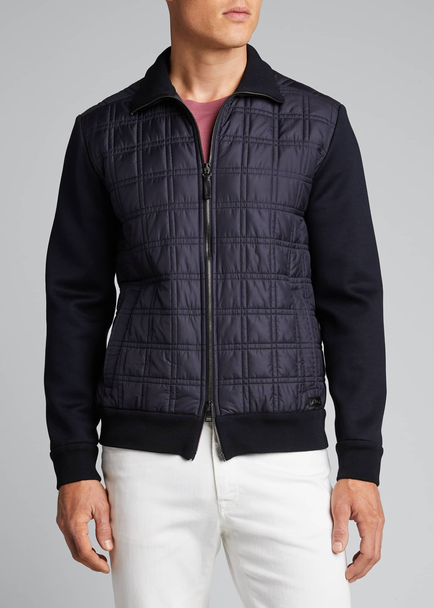 Image 3 of 5: Men's Quilt Knit Blouson Jacket