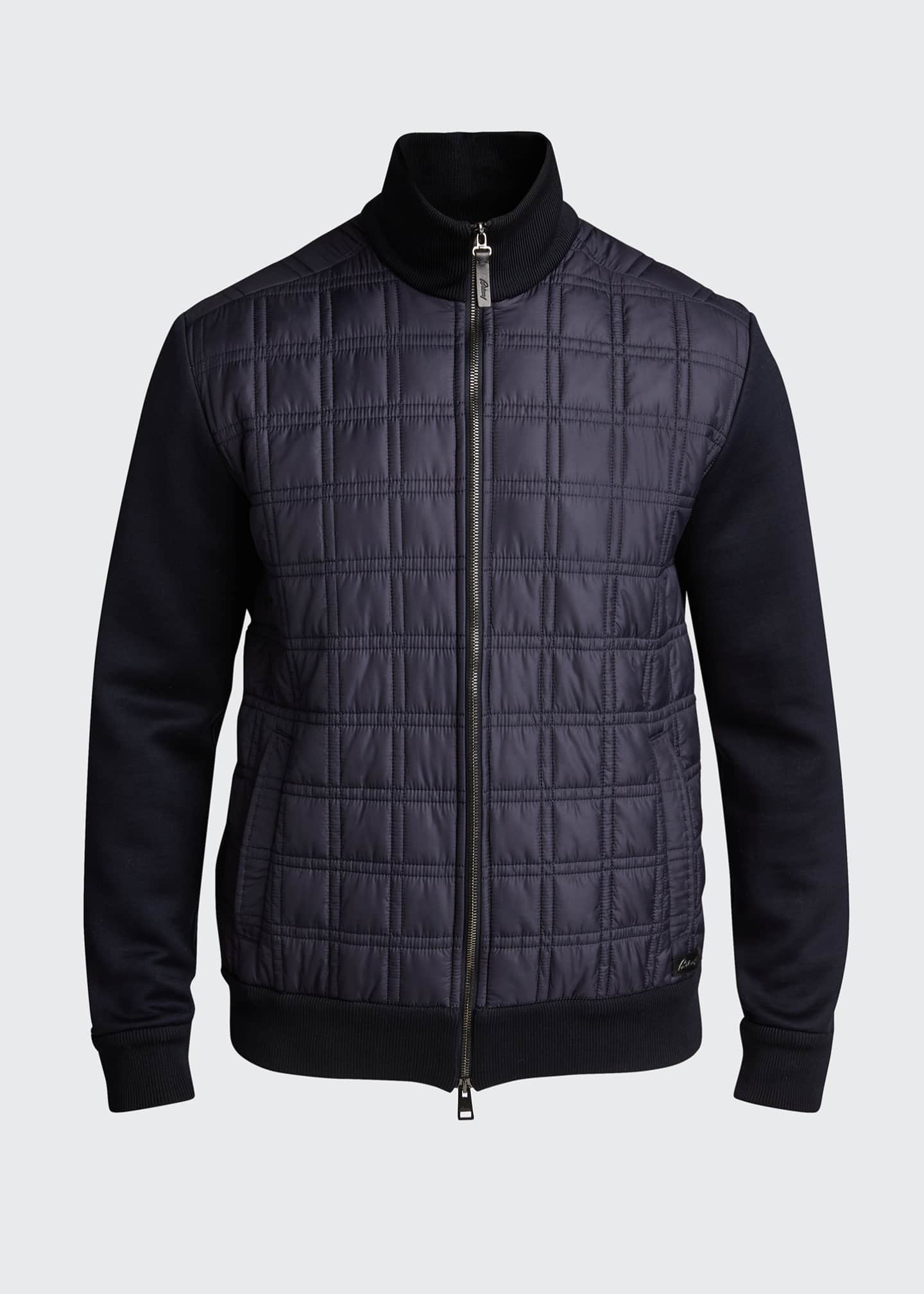 Image 5 of 5: Men's Quilt Knit Blouson Jacket
