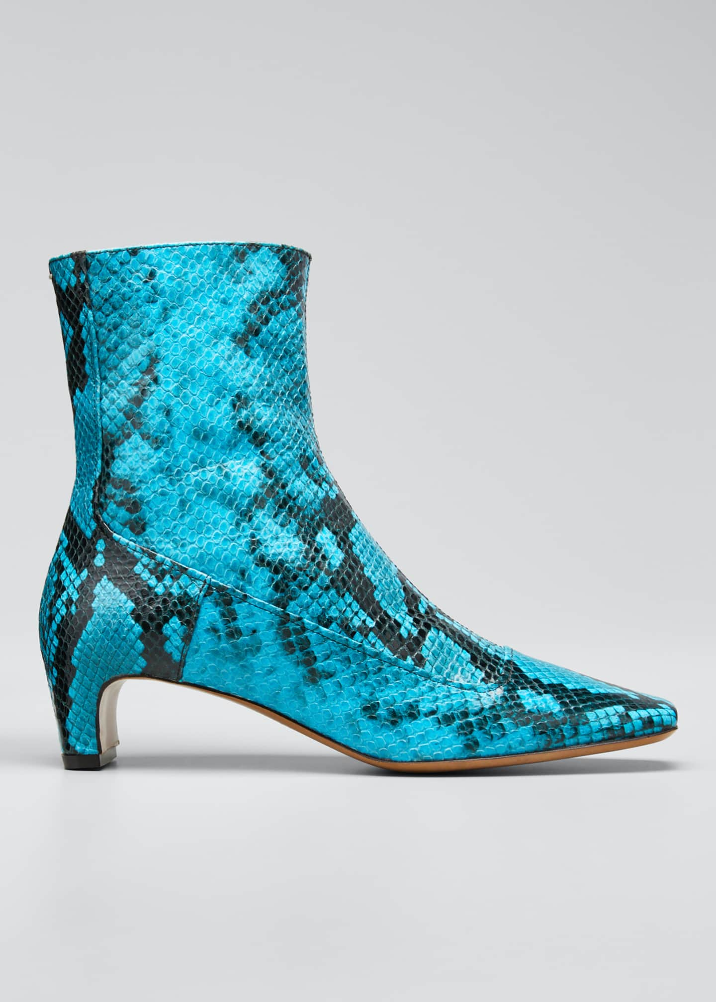 Maison Margiela Mick 50mm Python-Print Booties