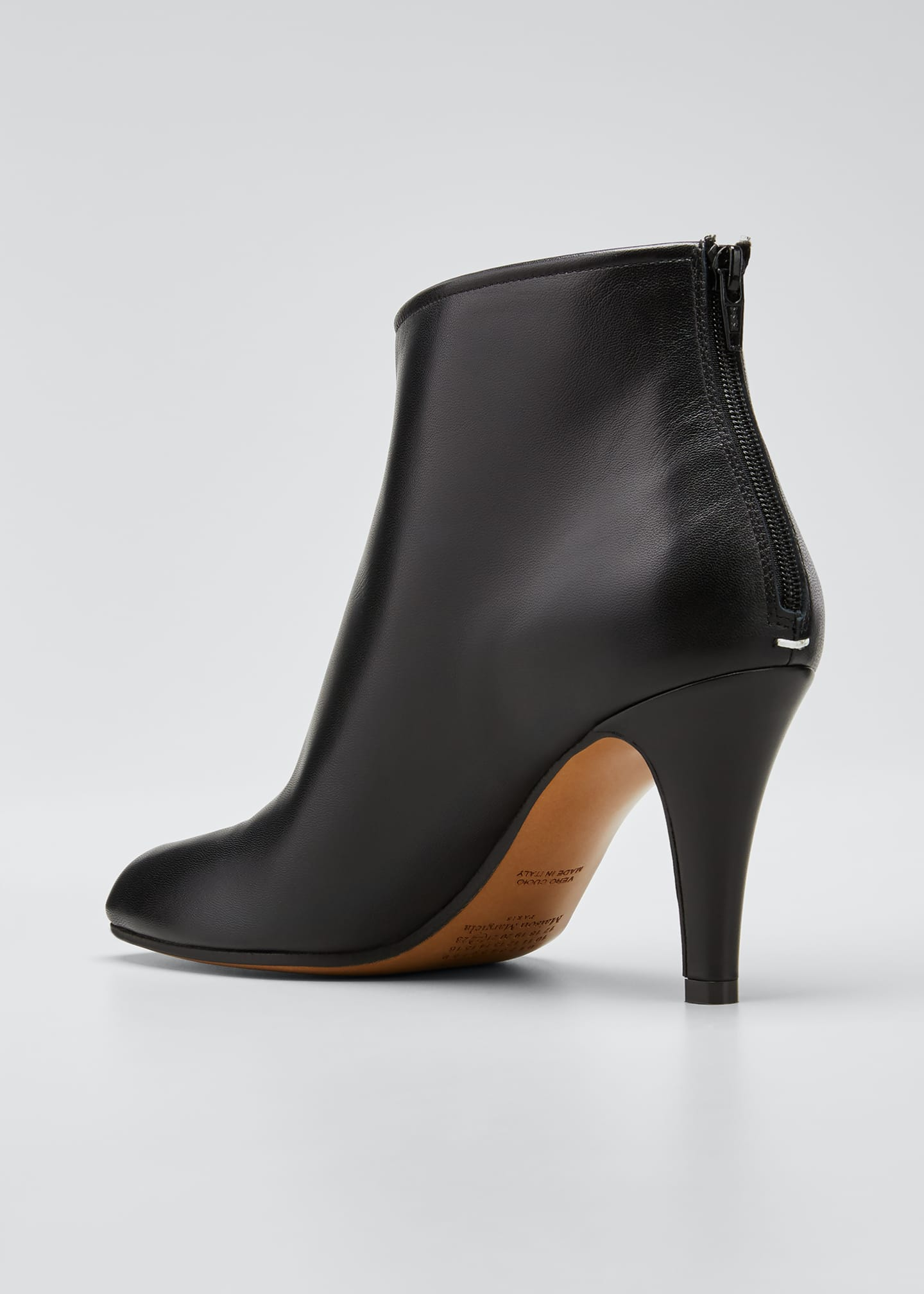 Image 3 of 4: Tabi Stiletto Leather Back-Zip Booties