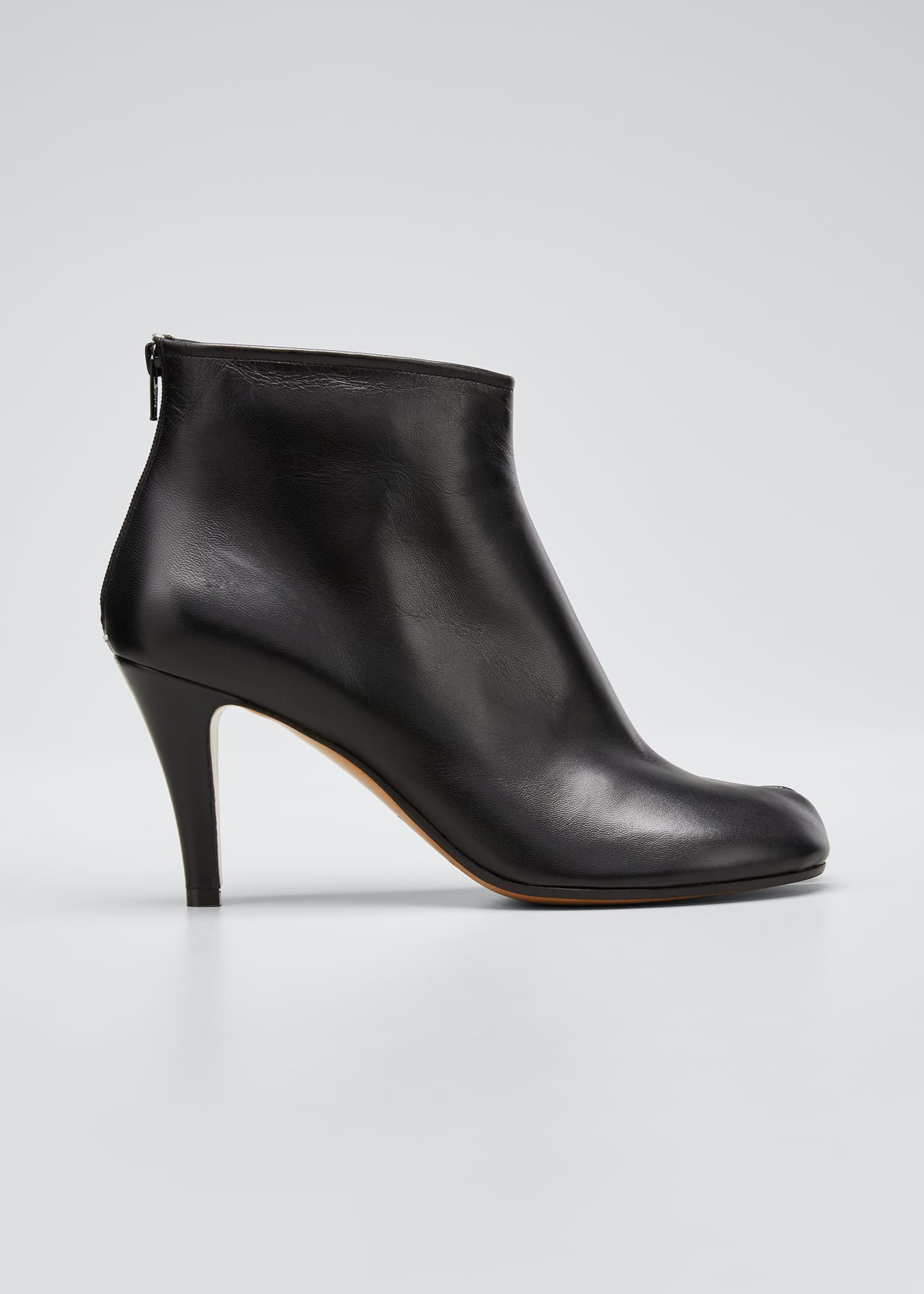 Image 1 of 4: Tabi Stiletto Leather Back-Zip Booties