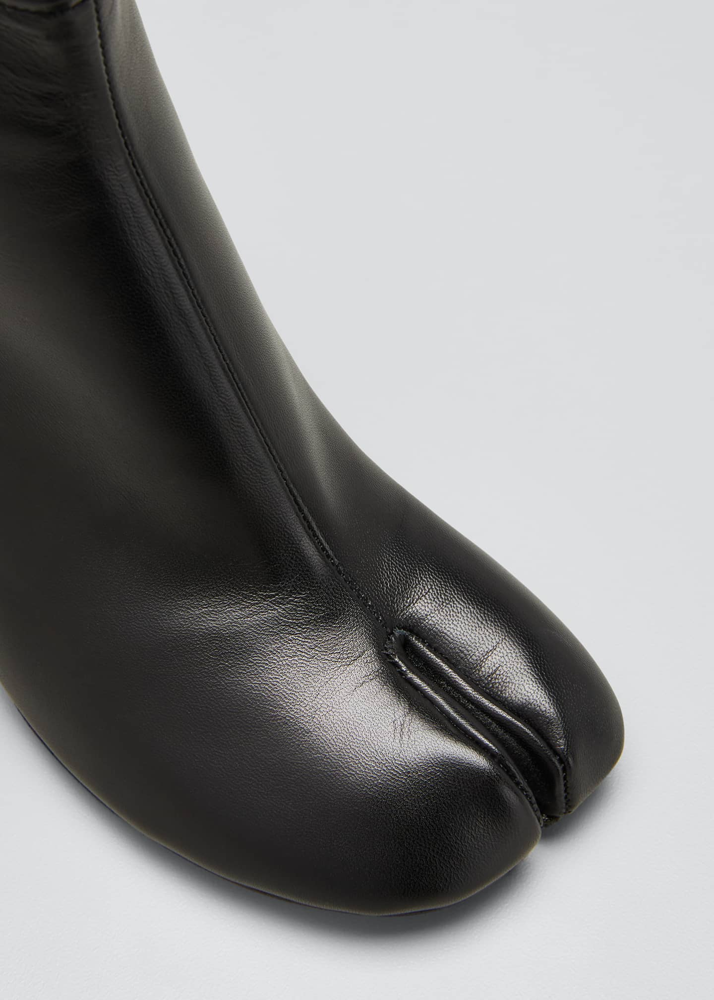 Image 4 of 4: Tabi Stiletto Leather Back-Zip Booties