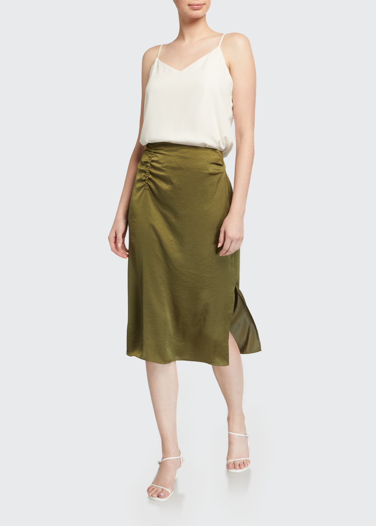 Image 1 of 3: Justine Satin Skirt