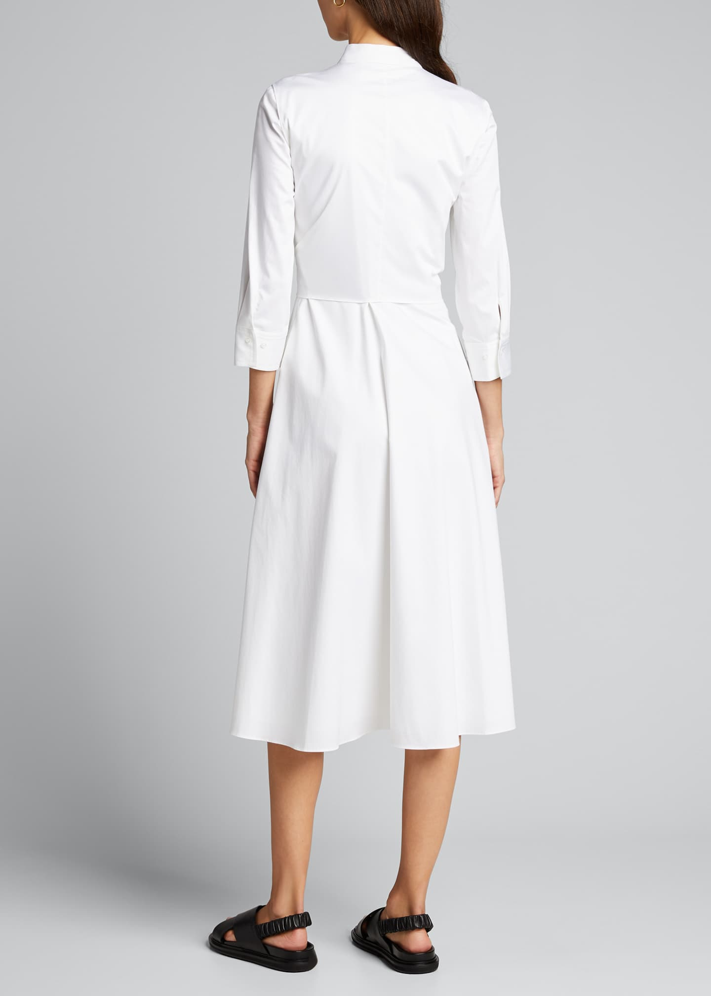 Image 2 of 5: Ann 3/4-Sleeve Tie-Waist Midi Dress