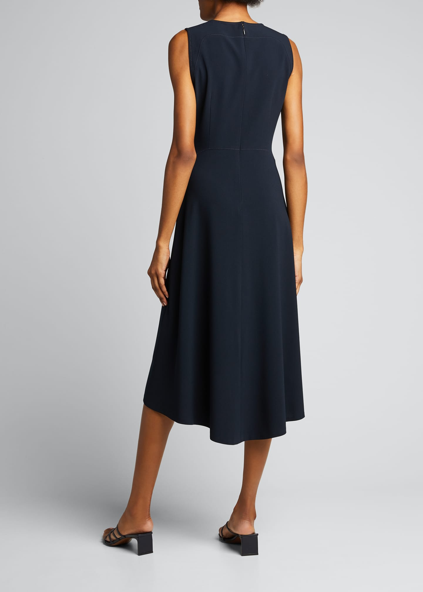 Image 2 of 5: Leighton Sleeveless High-Low Crepe Dress
