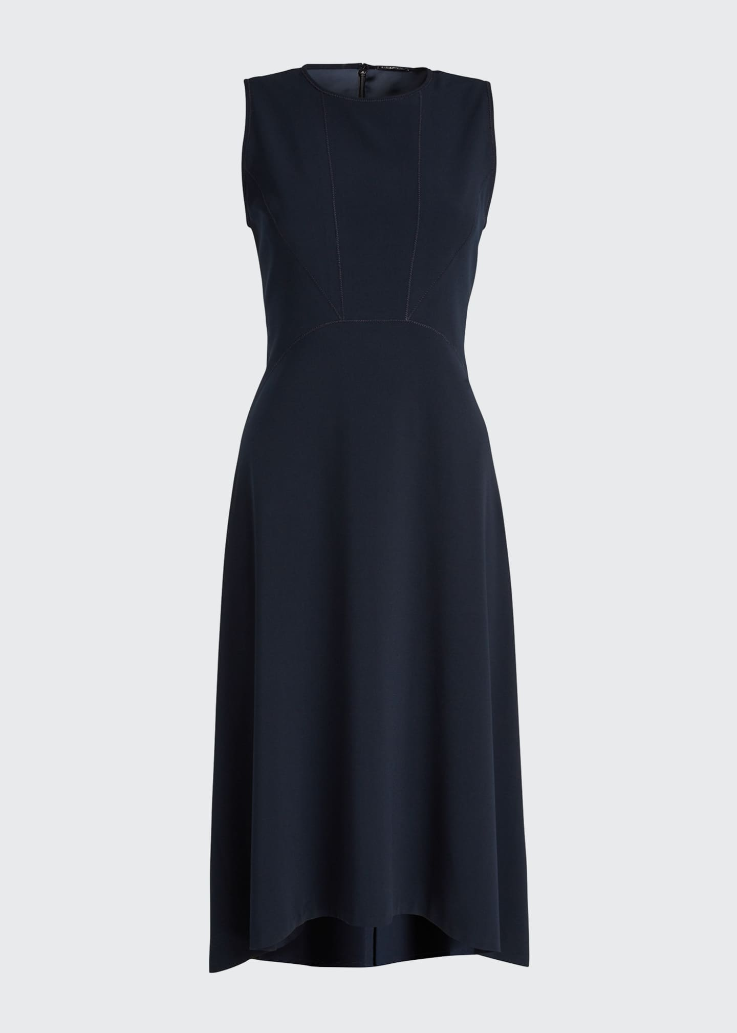 Image 5 of 5: Leighton Sleeveless High-Low Crepe Dress