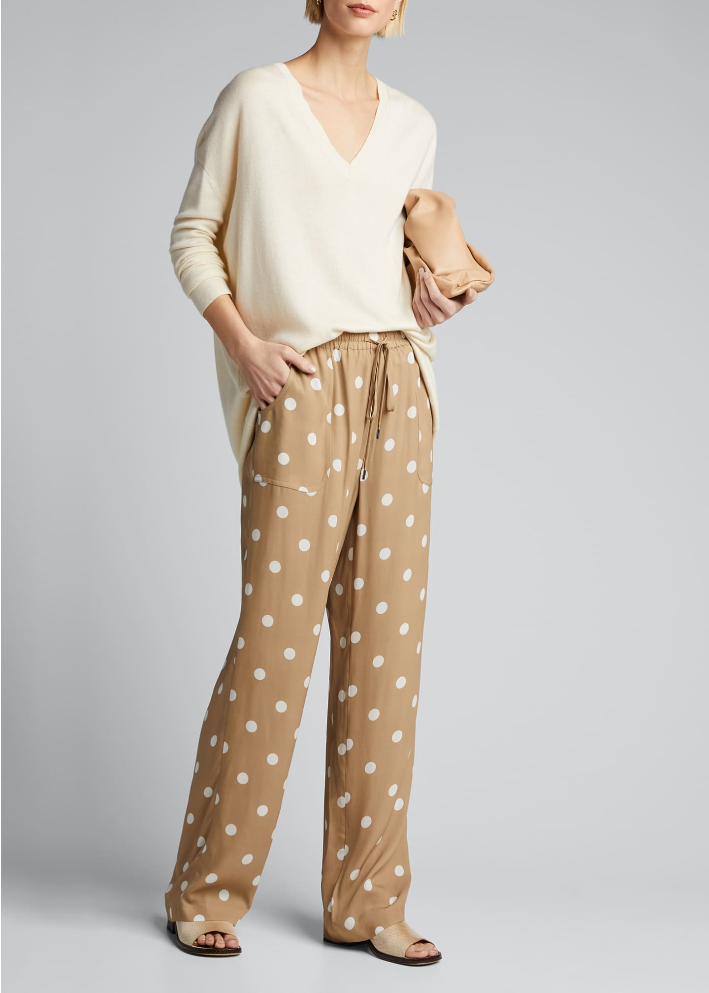 Image 1 of 5: Zuma Dot-Print Pants