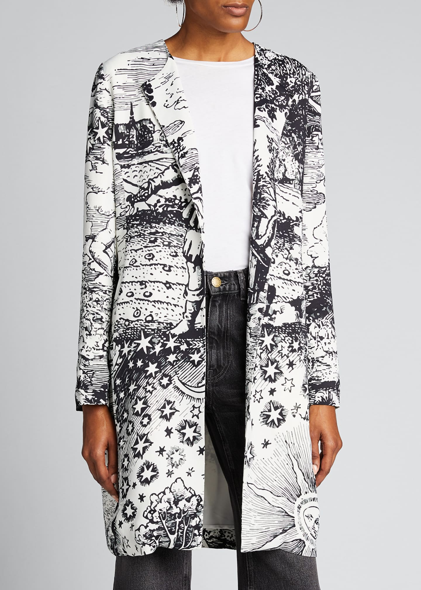Image 3 of 4: Modern Toile Duster Coat