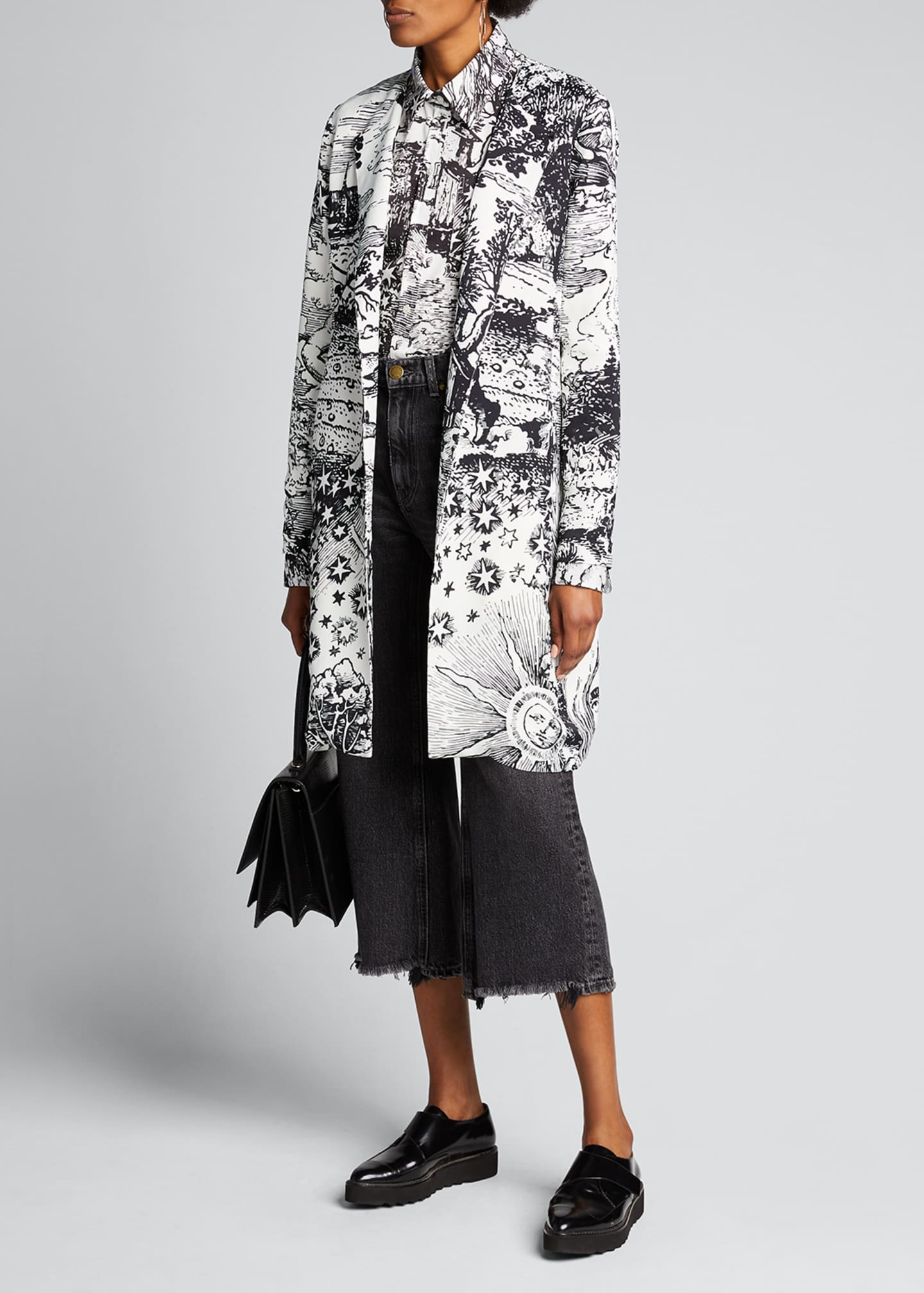 Image 1 of 4: Modern Toile Duster Coat