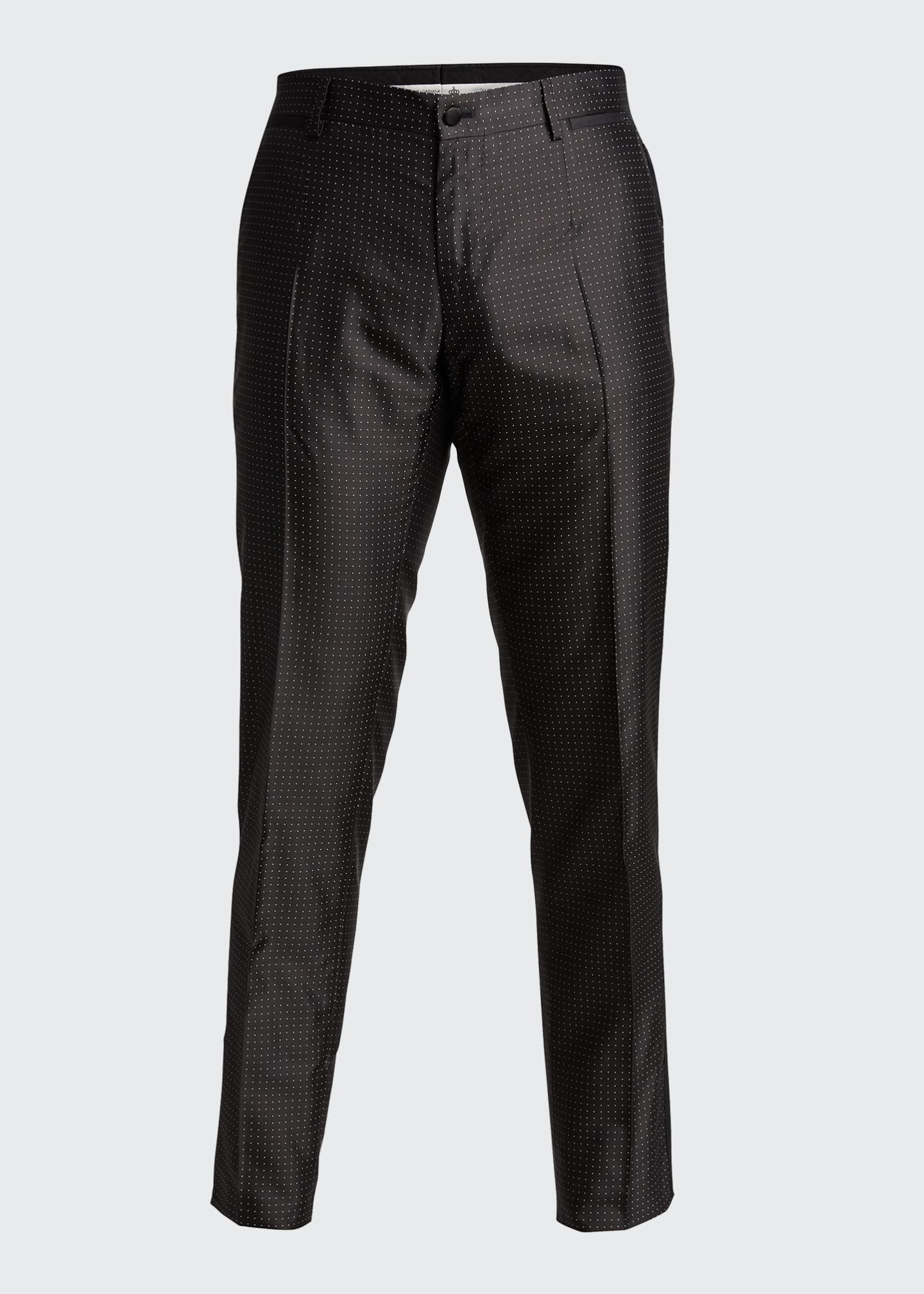 Image 5 of 5: Men's Satin Dot Evening Pants