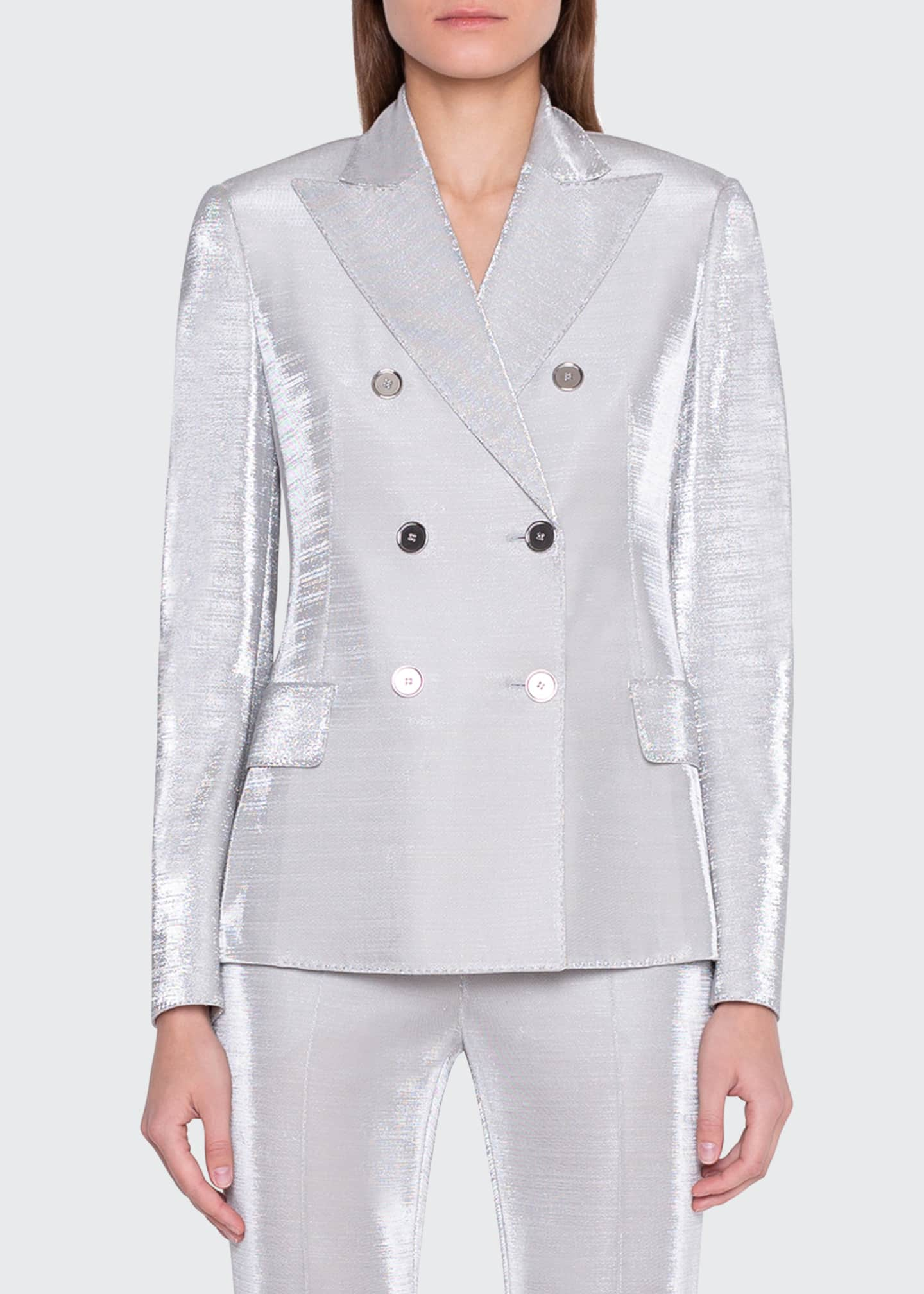 Image 2 of 4: Gloriana Metallic Jersey Jacket