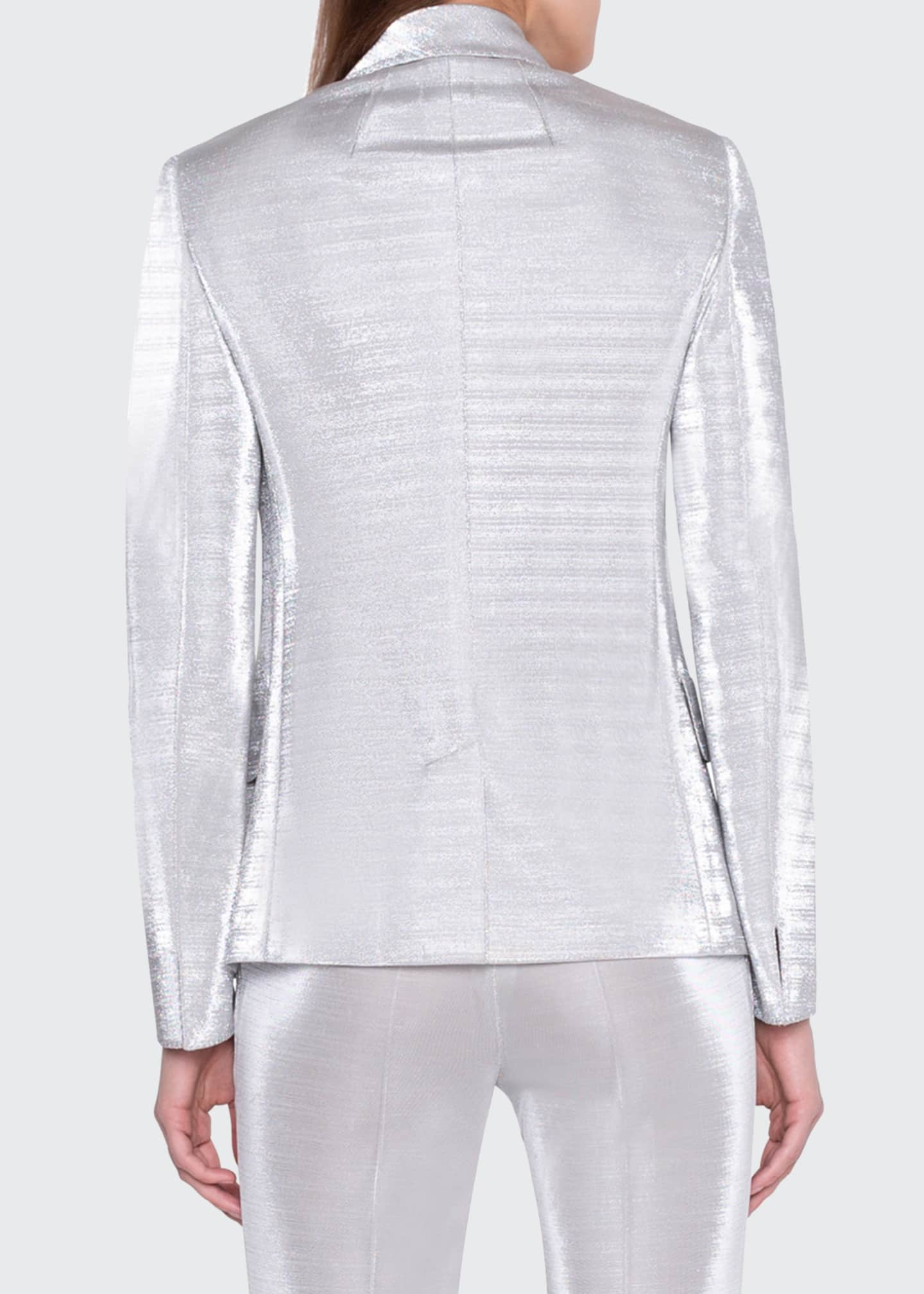 Image 3 of 4: Gloriana Metallic Jersey Jacket