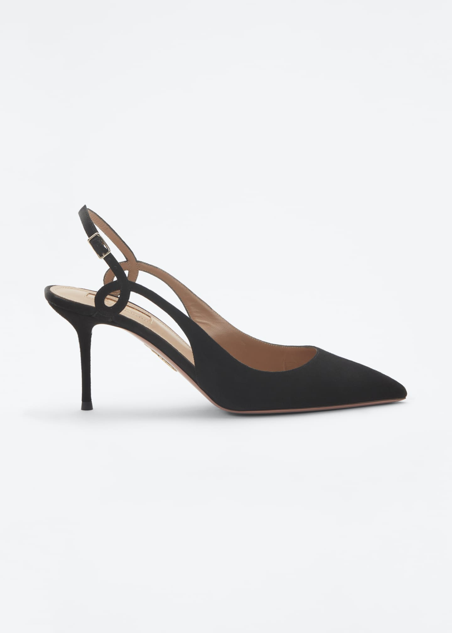 Image 2 of 4: Serpentine 75mm Suede Slingback Pumps