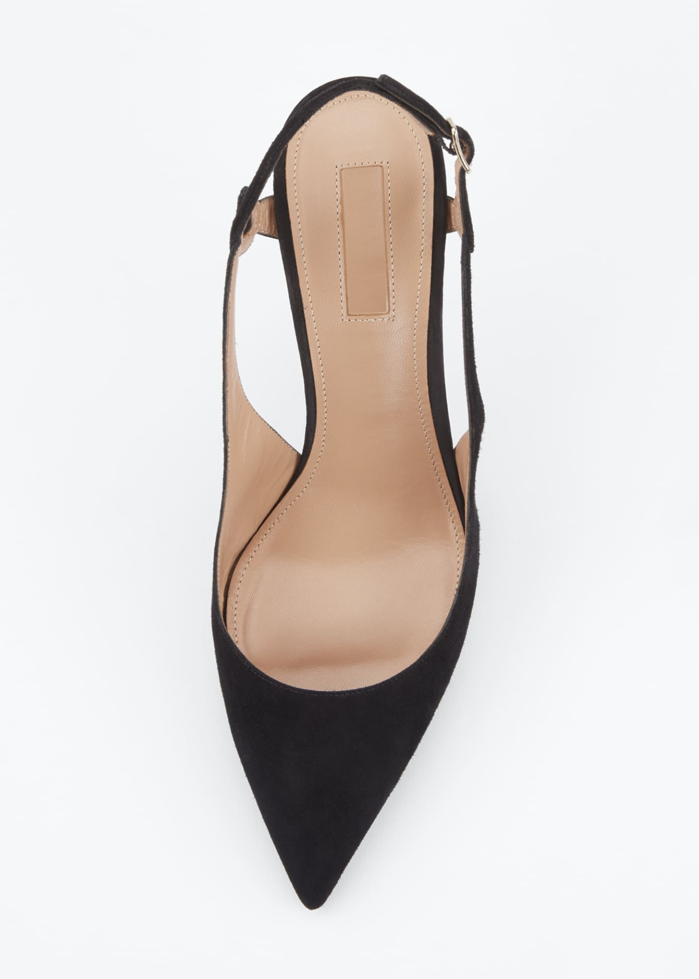 Image 3 of 4: Serpentine 75mm Suede Slingback Pumps