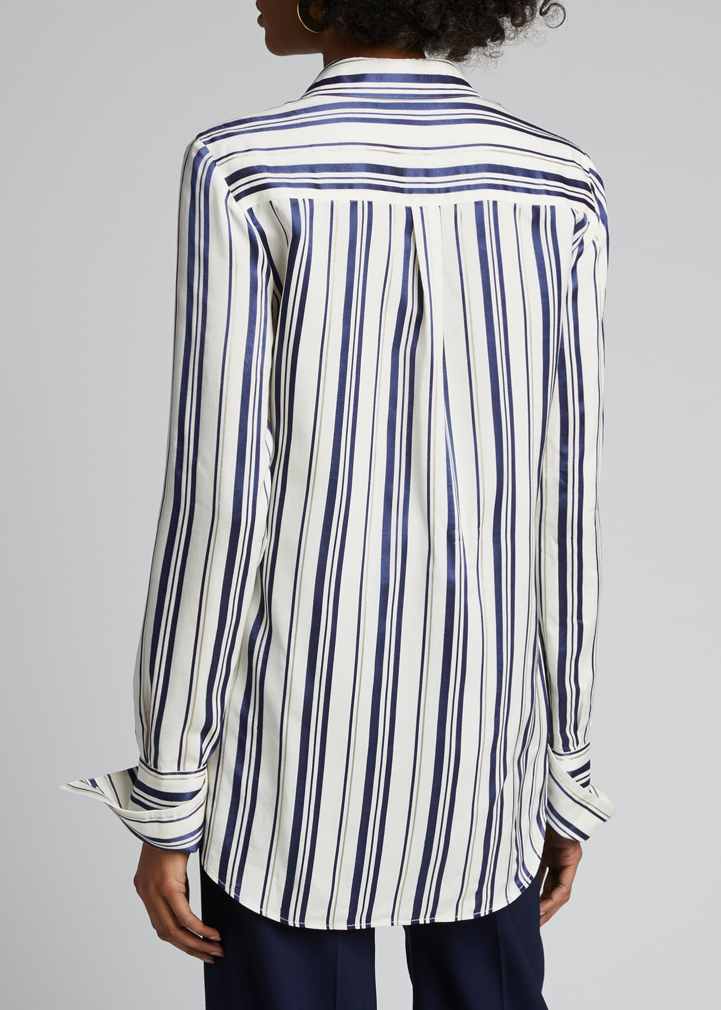 Image 2 of 5: Cotton Multi-Striped Shirt