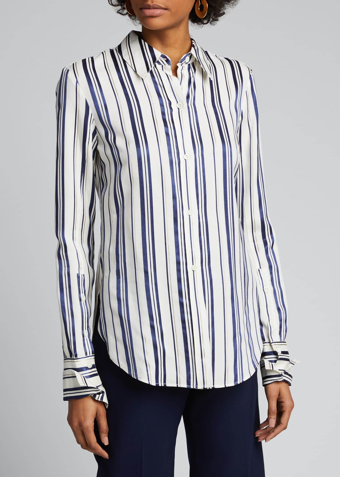 Image 3 of 5: Cotton Multi-Striped Shirt