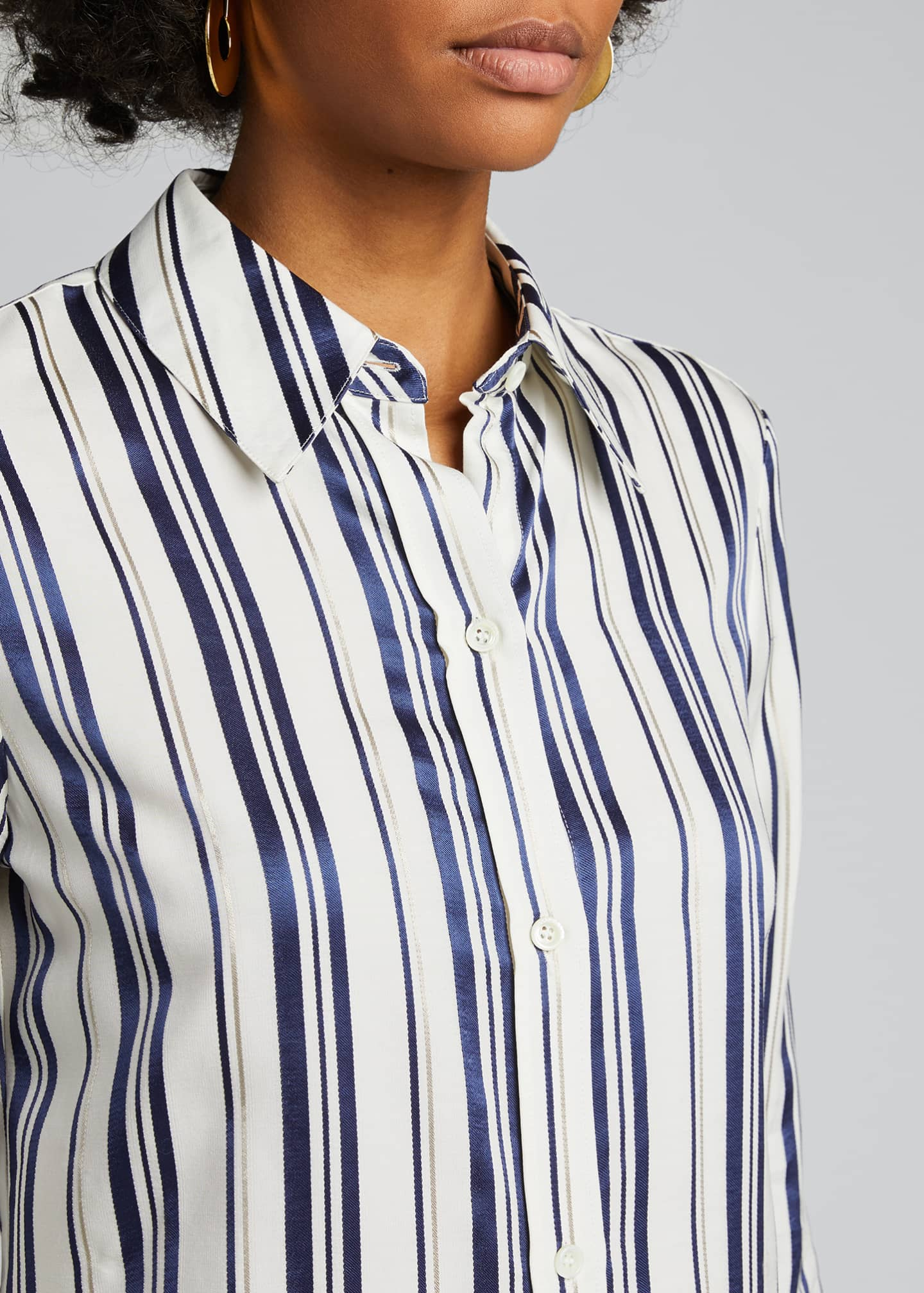 Image 4 of 5: Cotton Multi-Striped Shirt