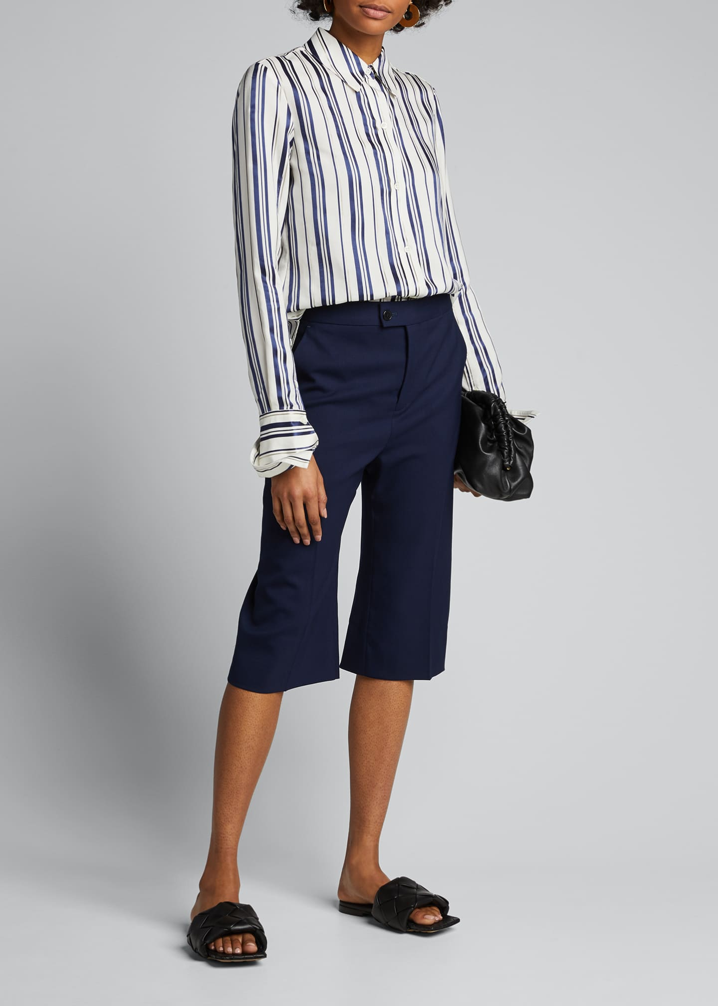 Image 1 of 5: Cotton Multi-Striped Shirt