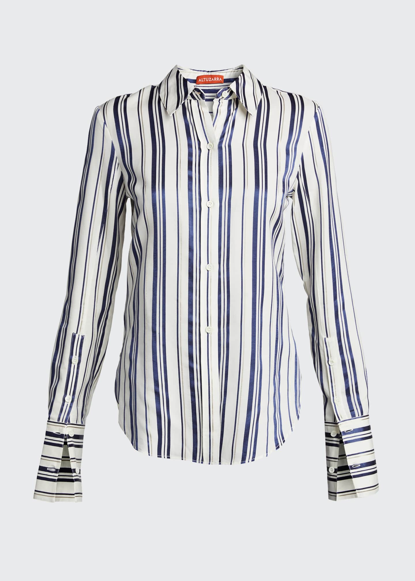 Image 5 of 5: Cotton Multi-Striped Shirt