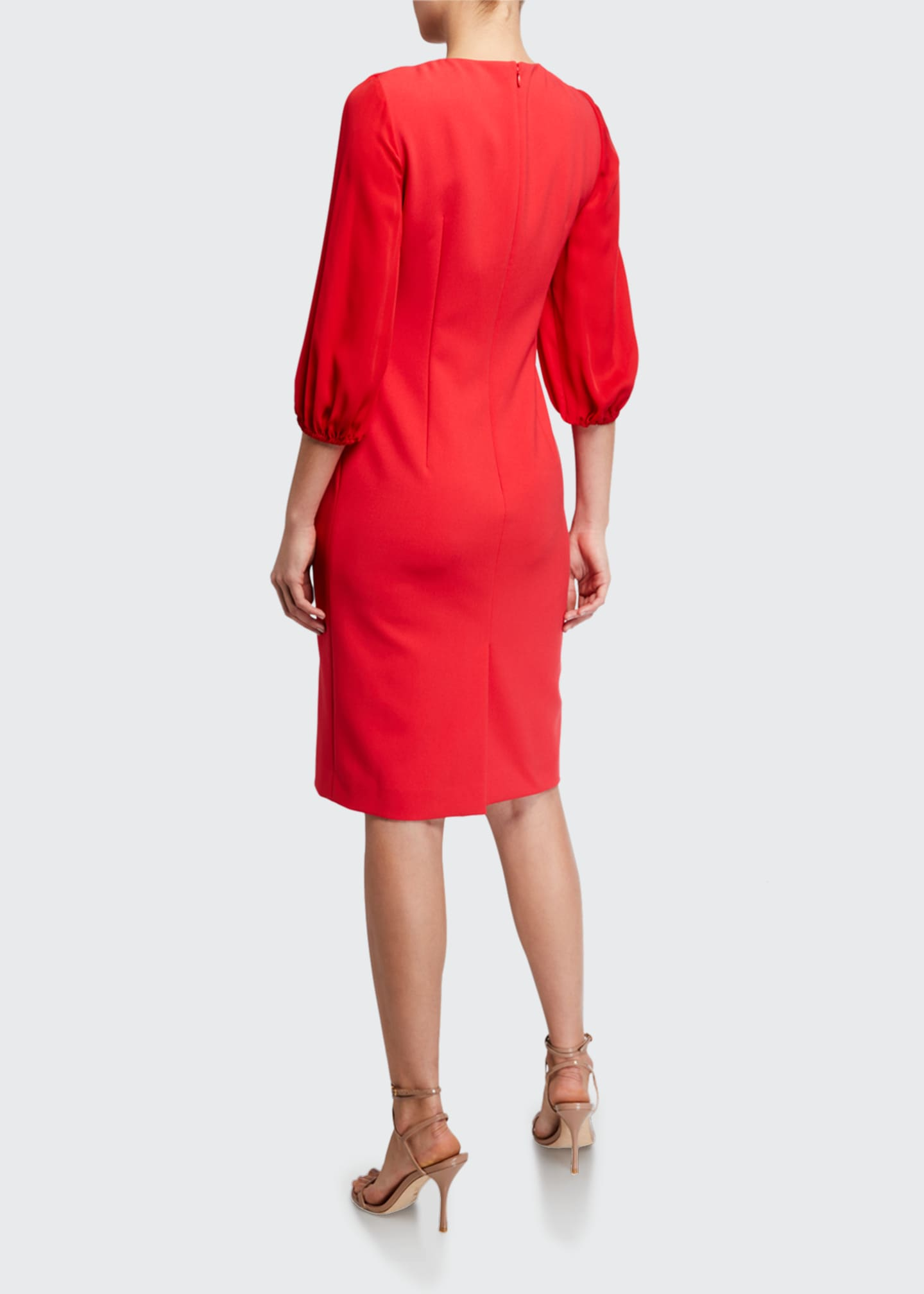 Image 2 of 2: Wendi 3/4-Sleeve Cady Sheath Dress