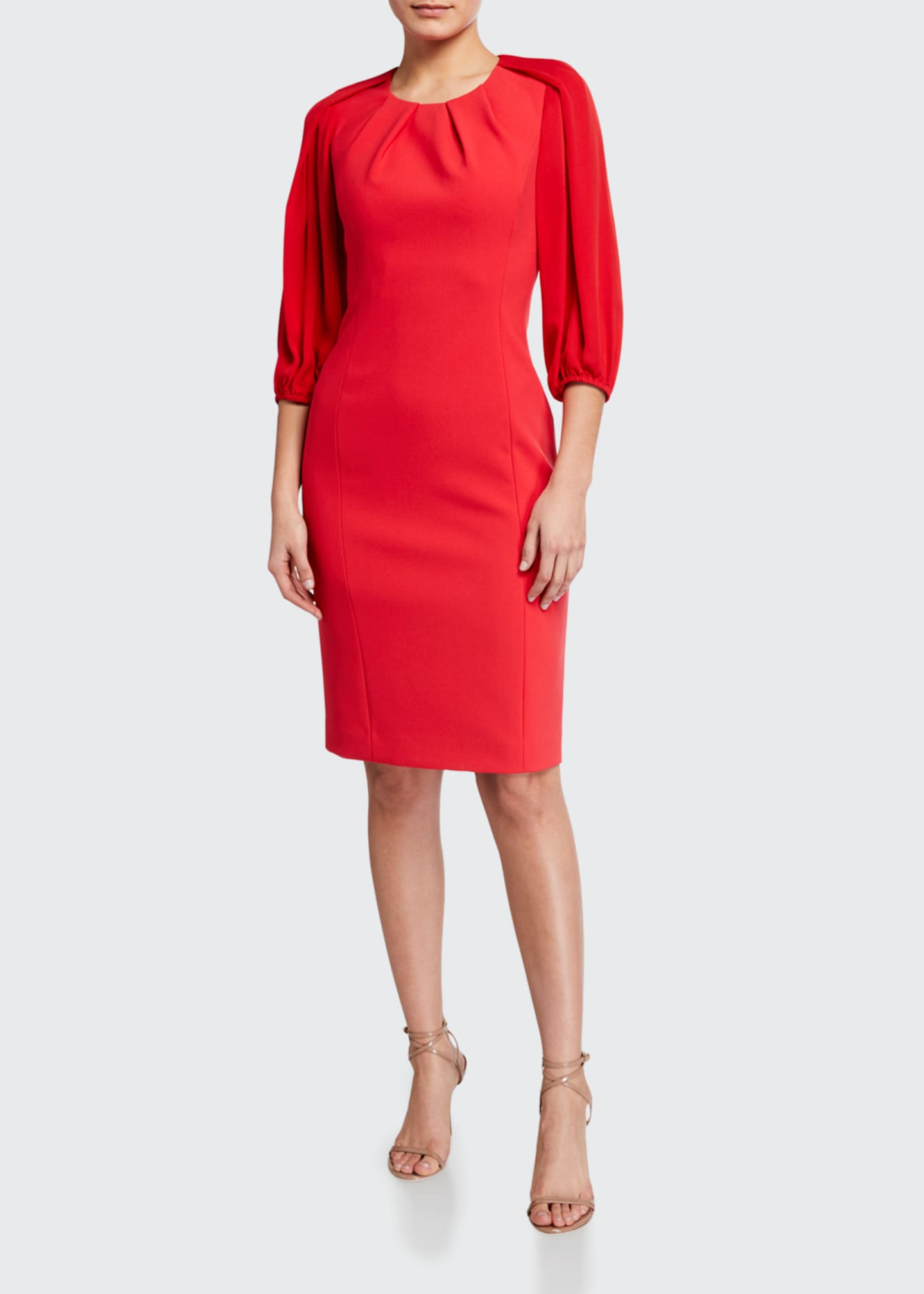 Wendi 3/4-Sleeve Cady Sheath Dress