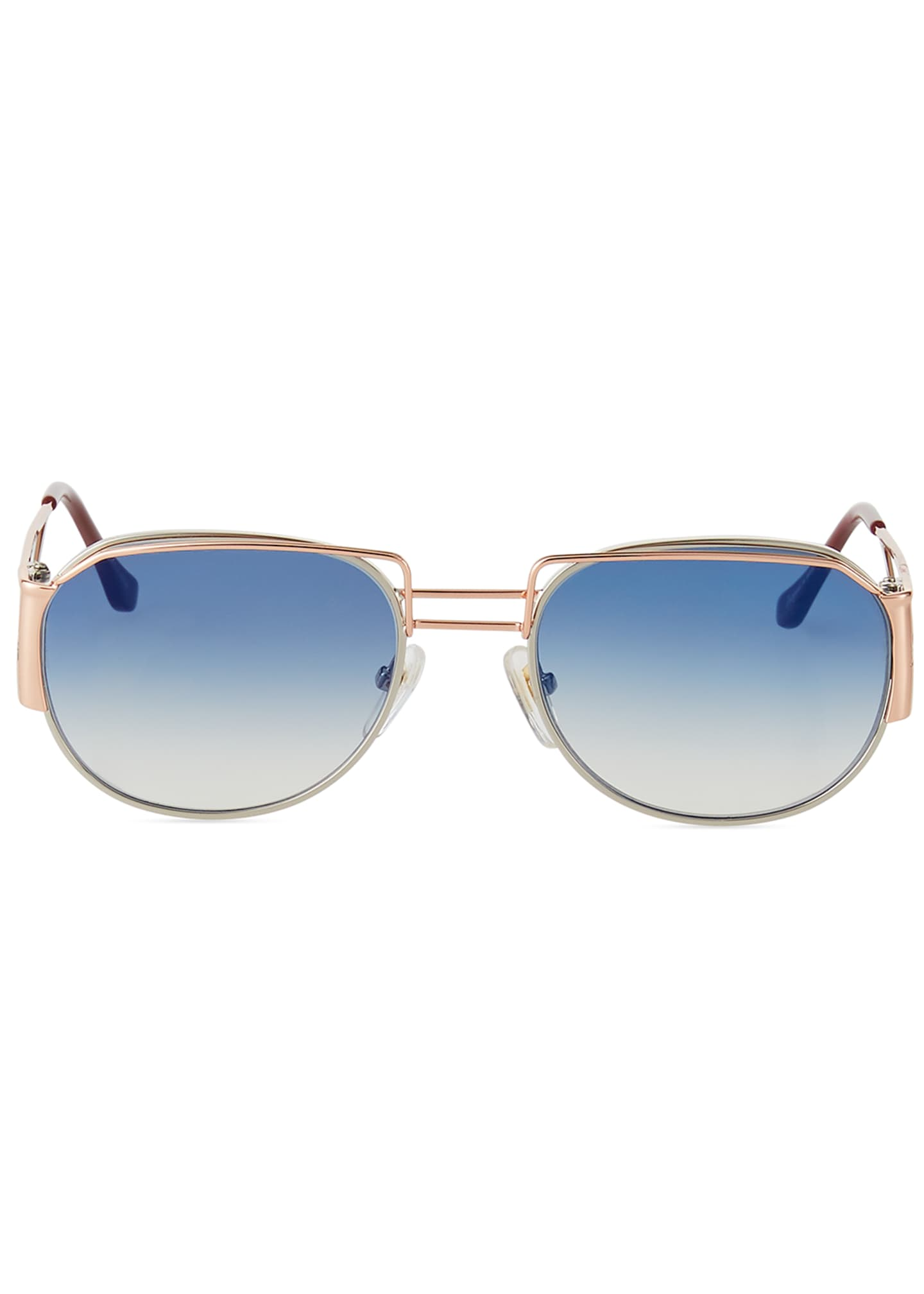 Image 2 of 3: Men's Gradient Geometric Metal Sunglasses