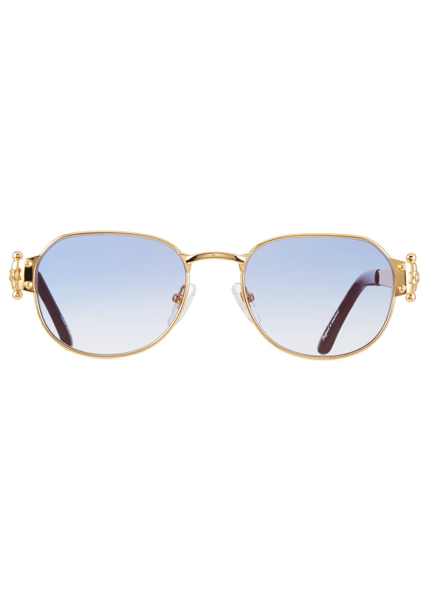 Image 2 of 3: Men's 1999 Masterpiece Gold-Plated Sunglasses
