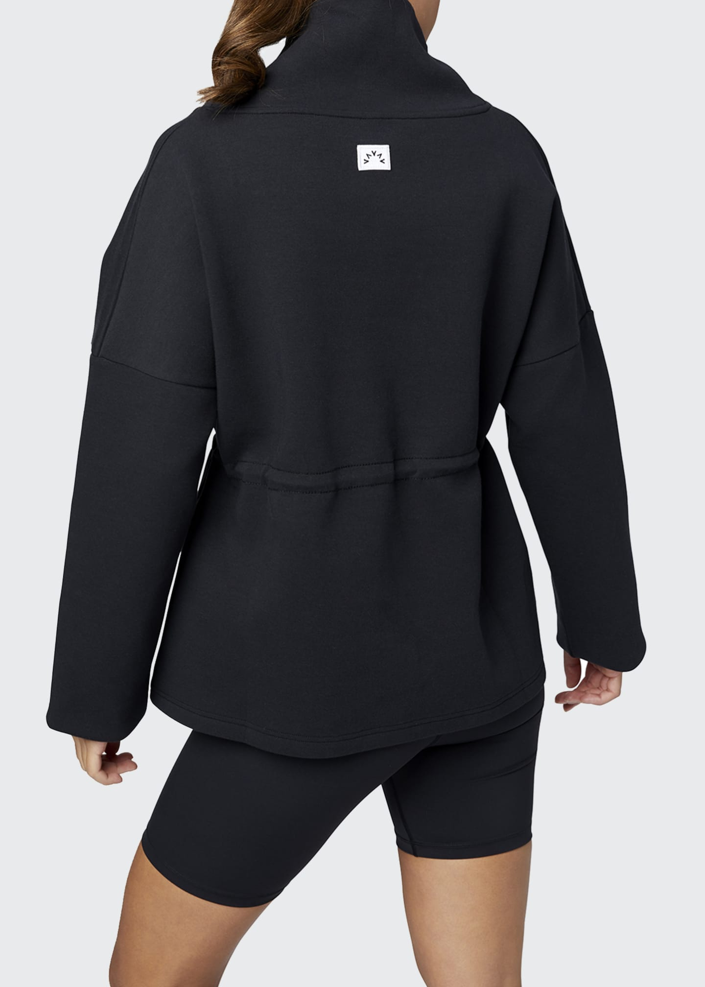 Image 2 of 3: Barton Sweat Funnel Neck Pullover Sweatshirt