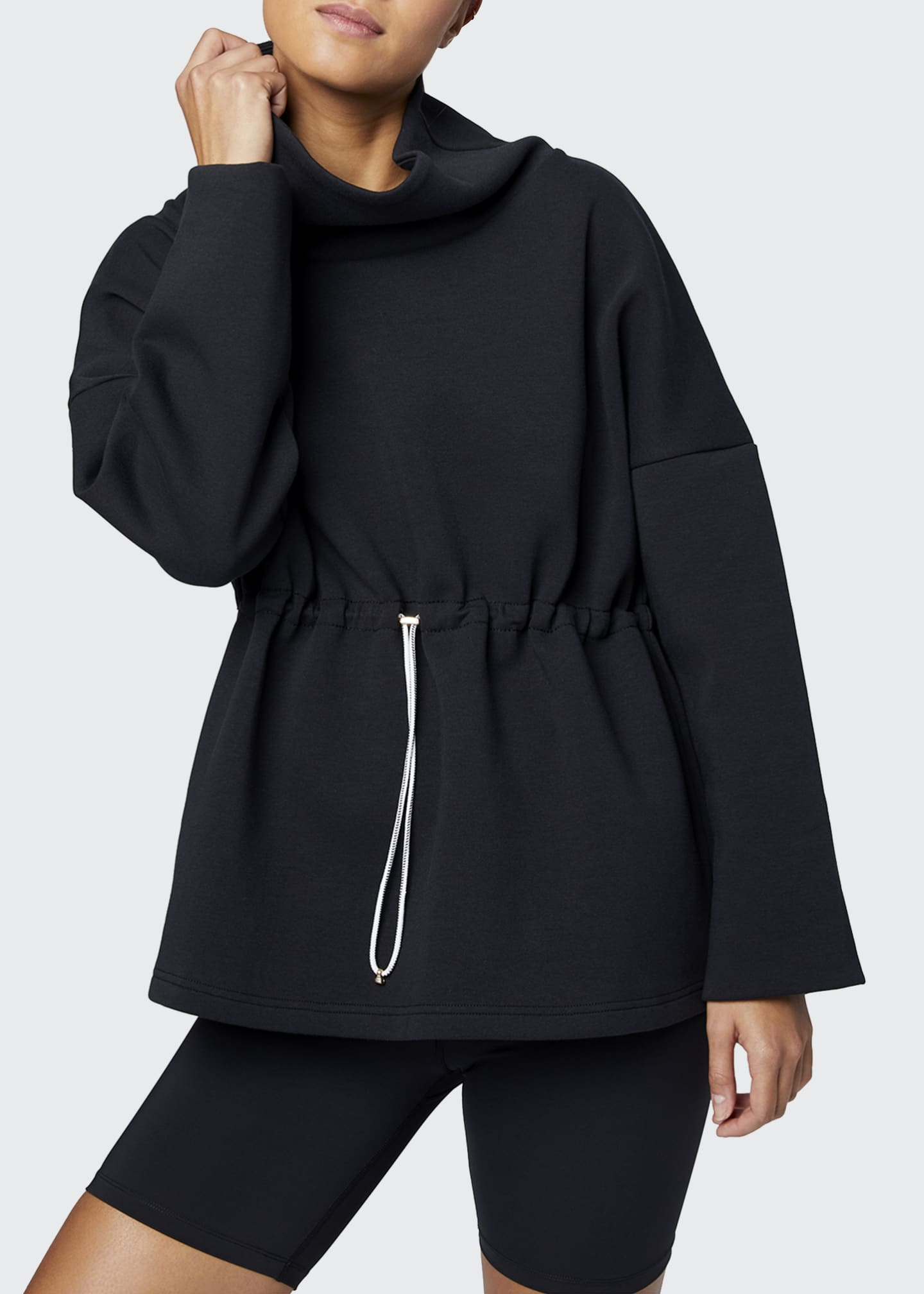 Image 1 of 3: Barton Sweat Funnel Neck Pullover Sweatshirt