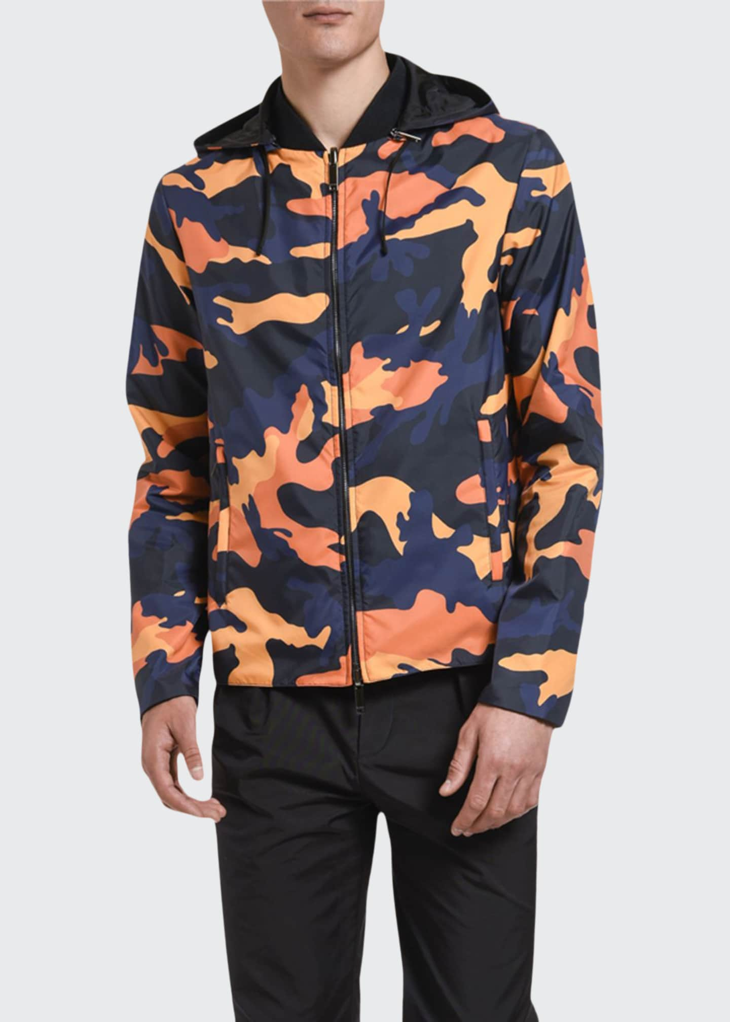 Image 1 of 2: Men's Camo Wind-Resistant Jacket