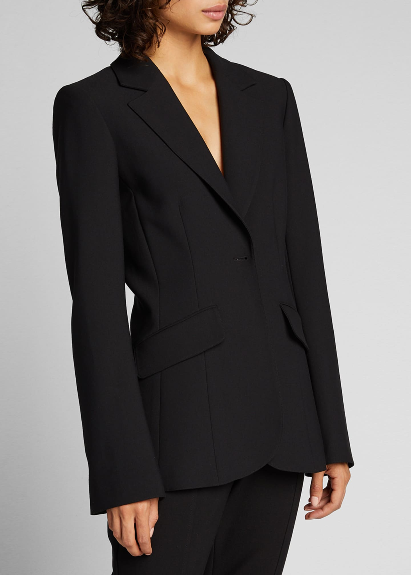 Image 3 of 5: Kym Single-Button Blazer