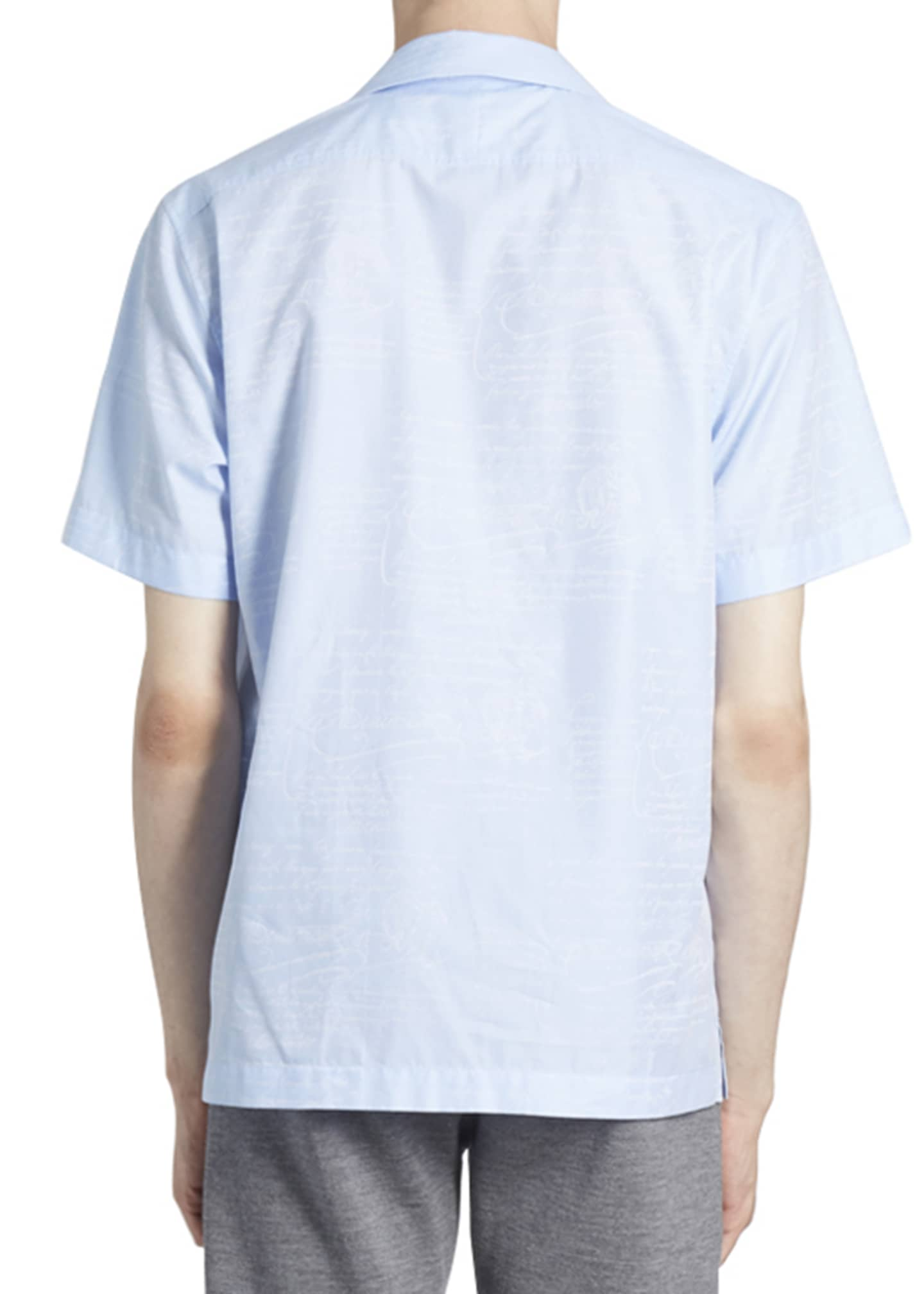 Image 2 of 2: Men's Scritto Silk Short-Sleeve Sport Shirt